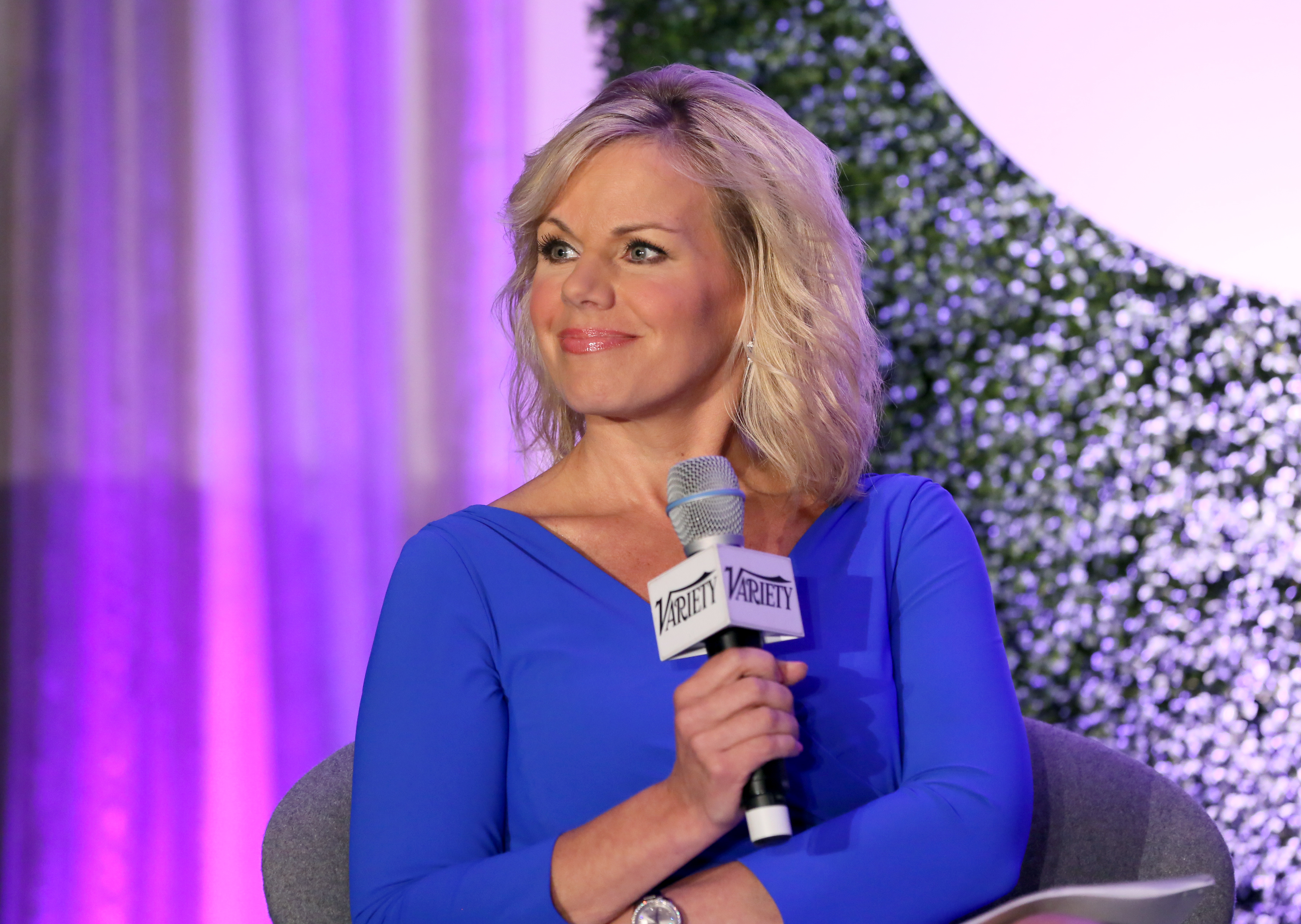 Fox News Channel Host Gretchen Carlson speaks onstage during a 'Fireside Chat on Persecuted' at Variety's Purpose: The Family Entertainment and Faith-Based Summit in association with Rogers And Cowan at Four Seasons Hotel Los Angeles at Beverly Hills on June 12, 2014 in Beverly Hills, California.