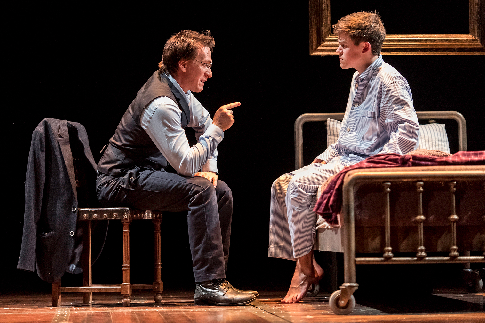 From left: Jamie Parker as Harry Potter and Sam Clemmett as Albus Potter in Harry Potter and the Cursed Child.