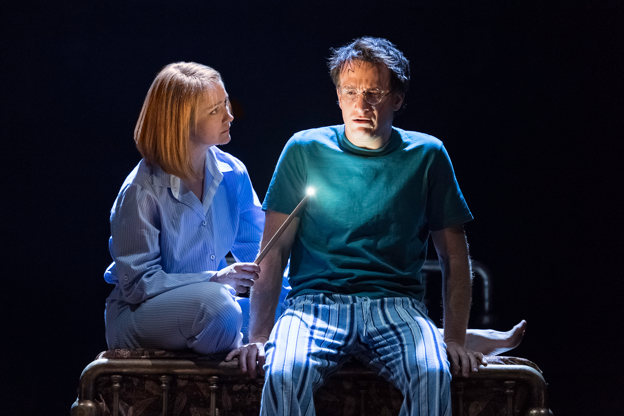 From left: Poppy Miller as Ginny Potter and Jamie Parker as Harry Potter in Harry Potter and the Cursed Child.