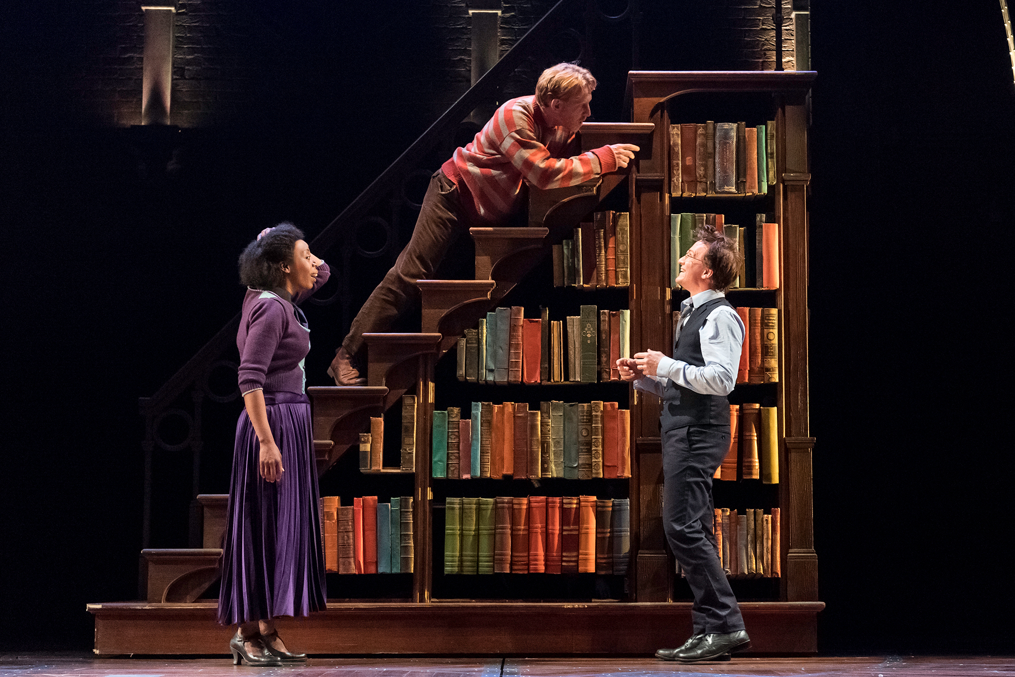 From left: Noma Dumezweni as Hermione Granger, Paul Thornley as Ron Weasley and Jamie Parker as Harry Potter in Harry Potter and the Cursed Child.