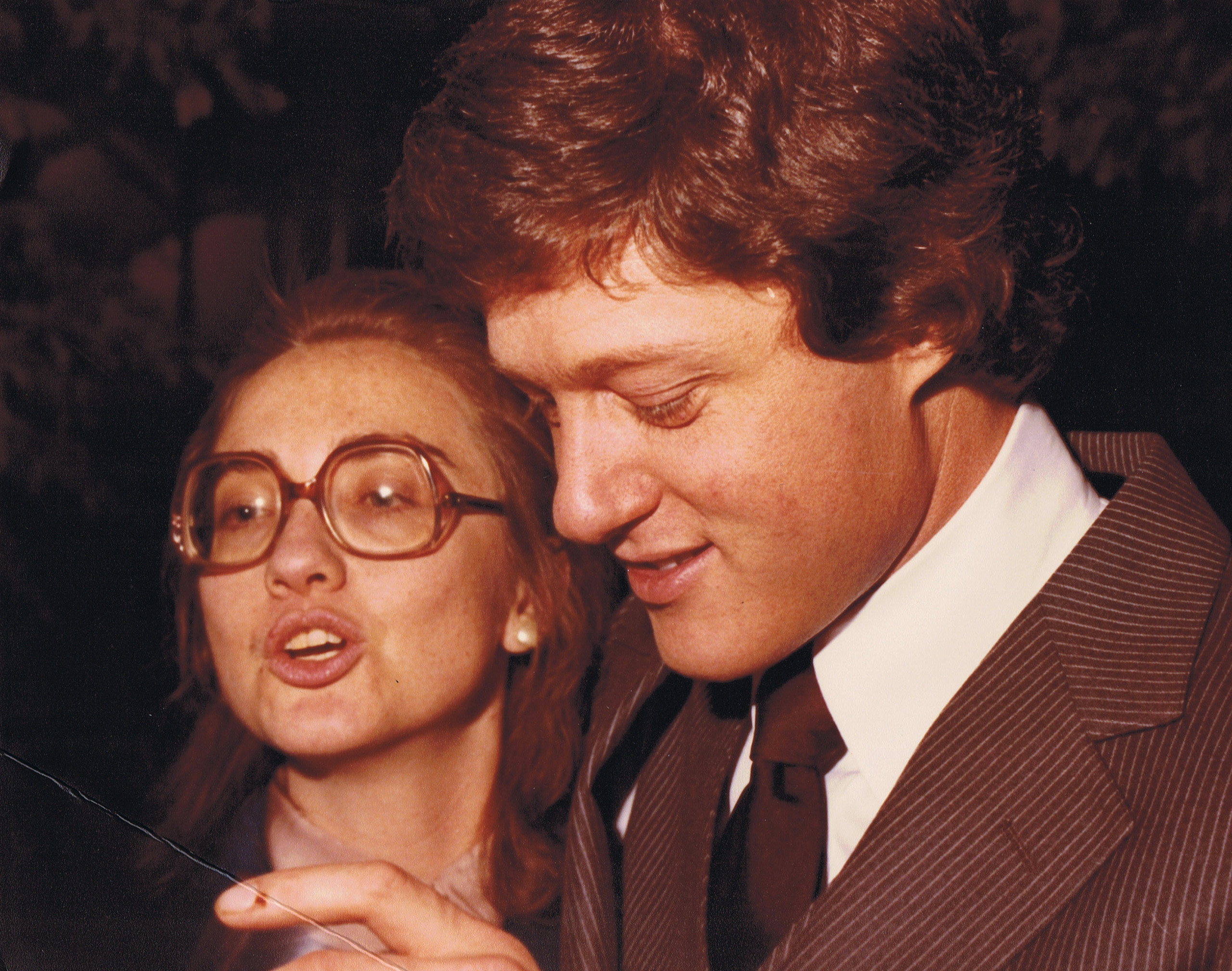 Hillary and Bill, c. 1979.
