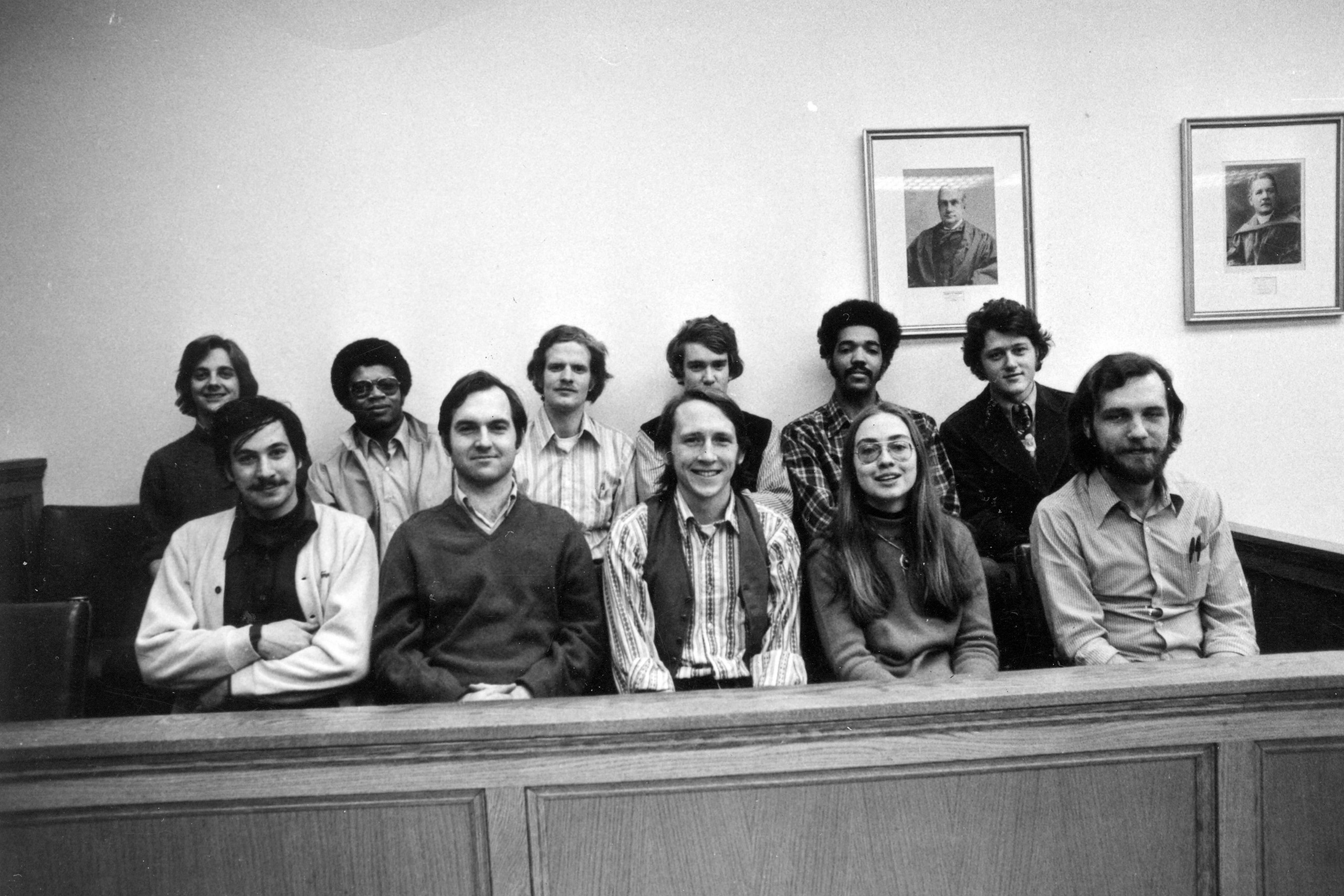 Hillary (bottom right) and her classmates at Yale, 1973.