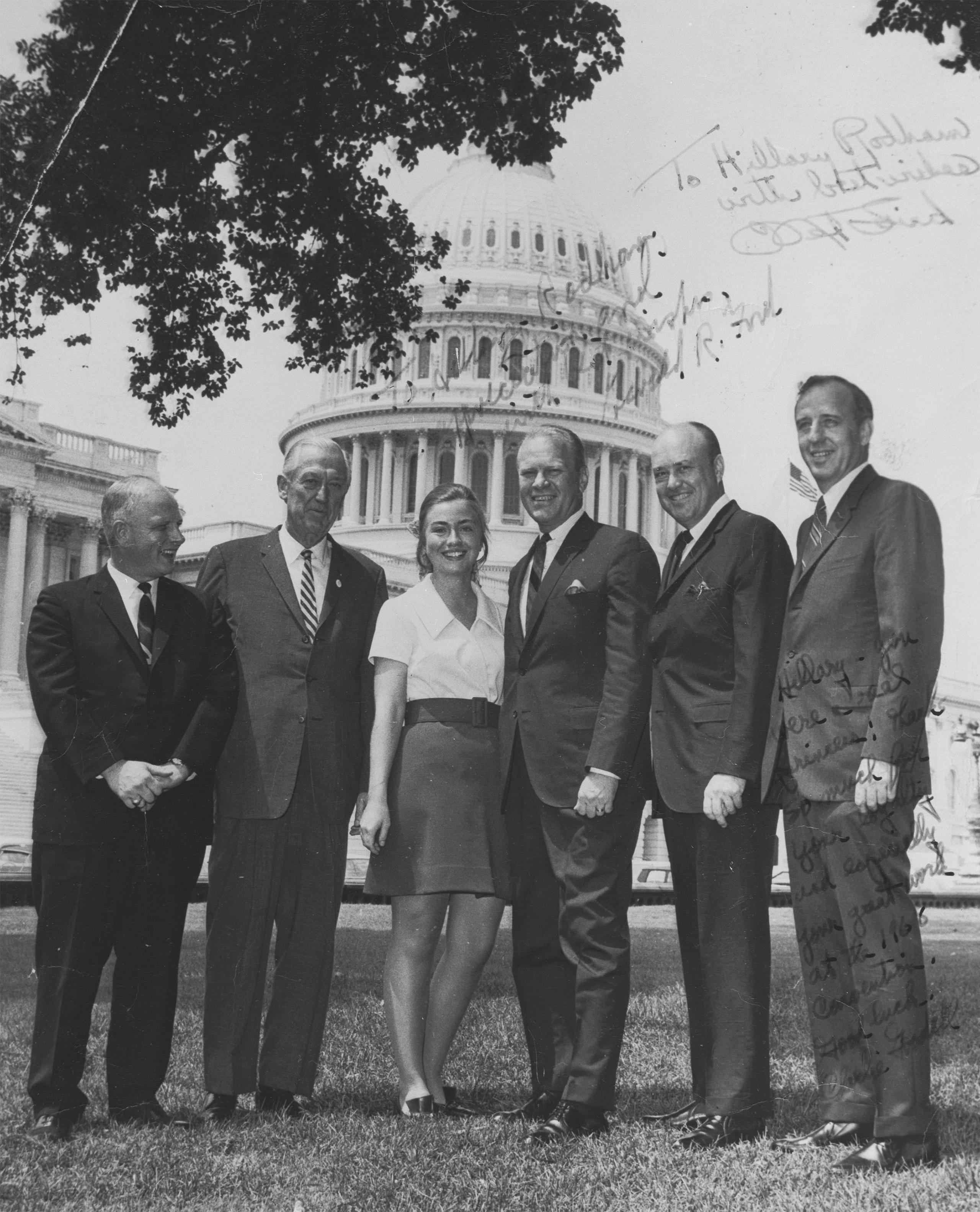 Hillary as an intern with Congress, Summer 1968.
