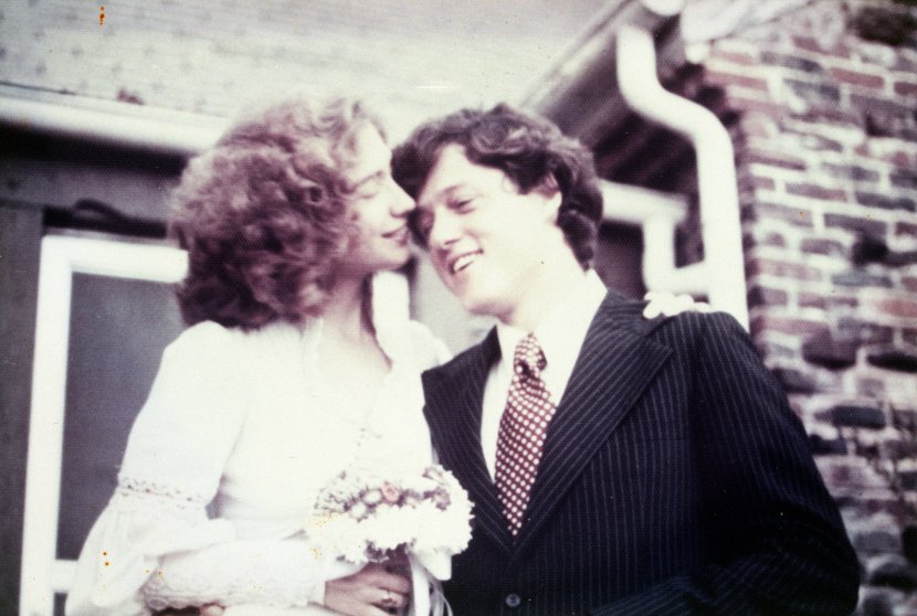 Hillary and Bill Clinton have been married 40 years— much of it spent in the political spotlight. Here, Hillary Rodham and Bill Clinton married at a small ceremony on Oct. 11, 1975 - present Courtesy William J. Clinton Presidential Library