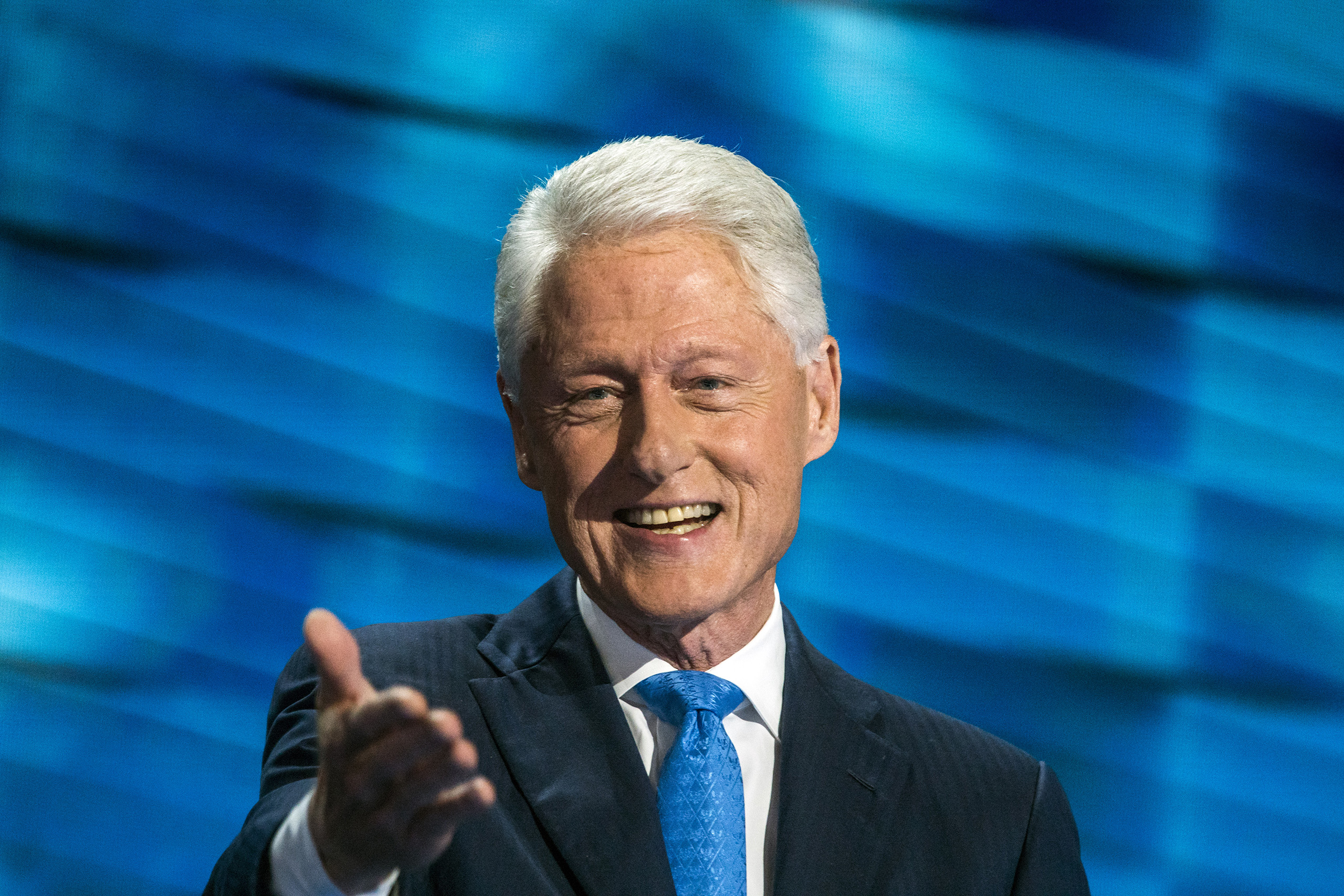 Former US President Bill Clinton speaks on the second day of the Democratic National Convention at the Wells Fargo Center, July 26, 2016 in Philadelphia, Pennsylvania.