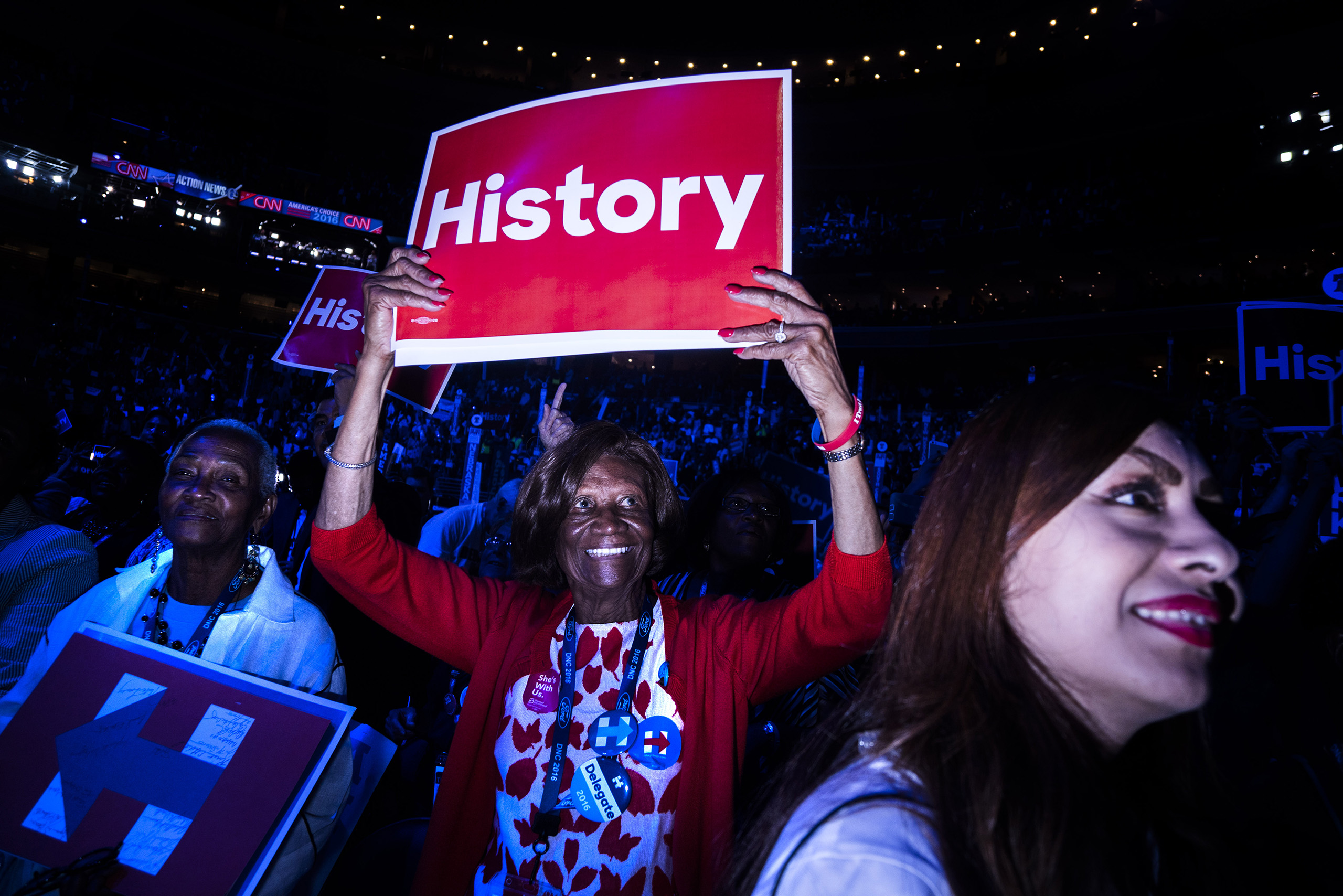 Scenes from the second day of the Democratic National Convention at the Wells Fargo Center, July 26, 2016 in Philadelphia, Pennsylvania.