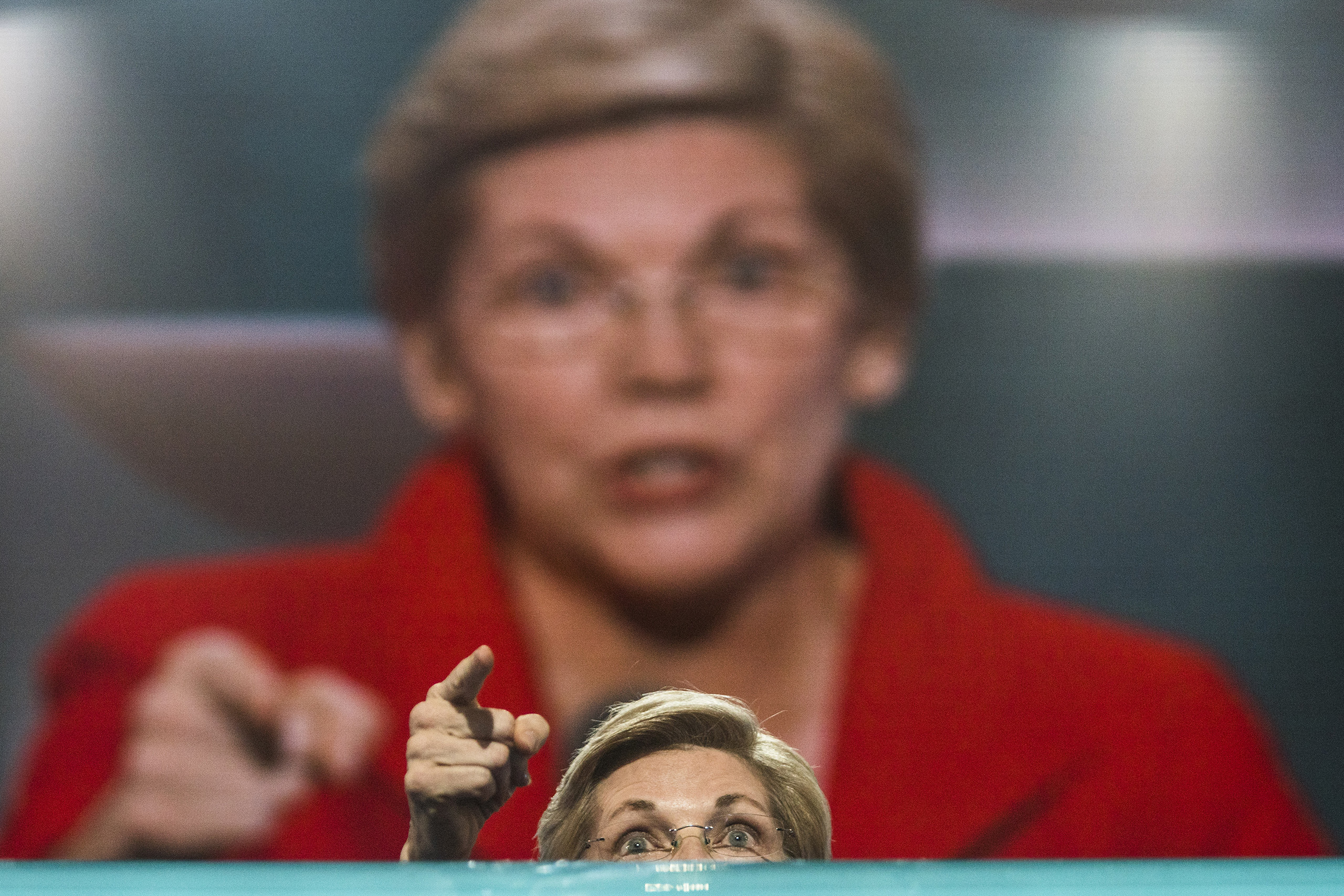 Senator Elizabeth Warren speaks during the first day of the Democratic National Convention at the Wells Fargo Center in Philadelphia, Pennsylvania, July 25, 2016.