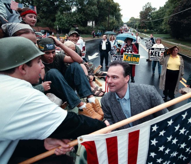 Candidate for Va. Lt Gov. Tim Kaine at Herndon Homecoming Parade in Herndon, Va. on Oct. 06, 2001.