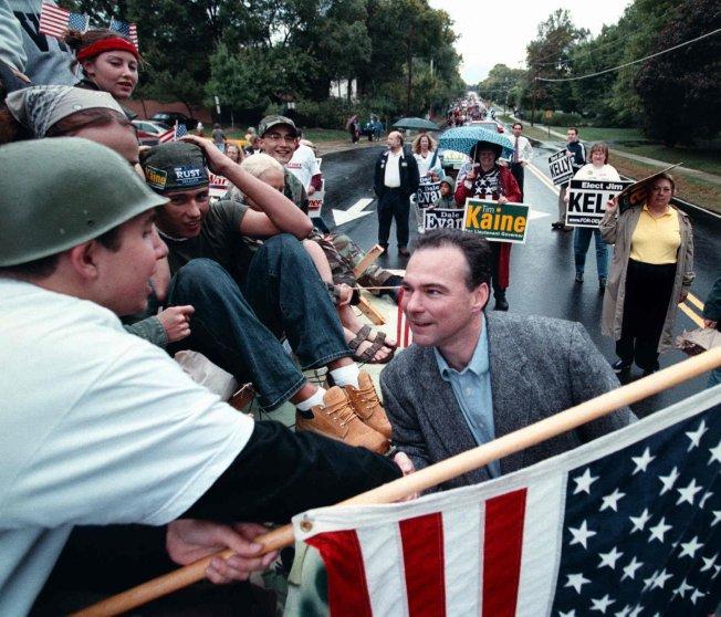 Candidate for Va. Lt Gov. Tim Kaine at Herndon Homecoming Parade in Herndon, Va. on Oct. 06, 2001.