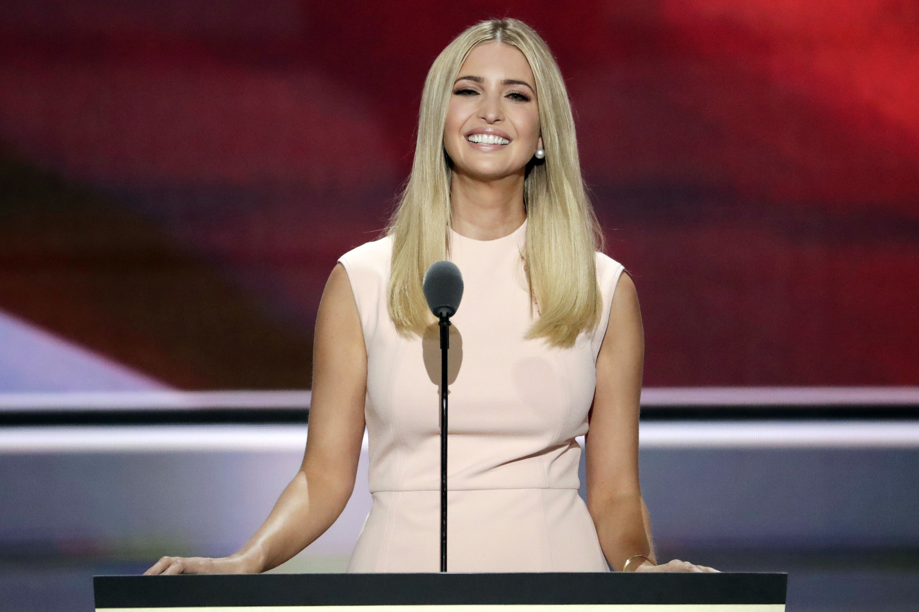 Ivanka Trump, daughter of Donald J. Trump, speaks during the final day of the Republican National Convention in Cleveland, Thursday, July 21, 2016.
