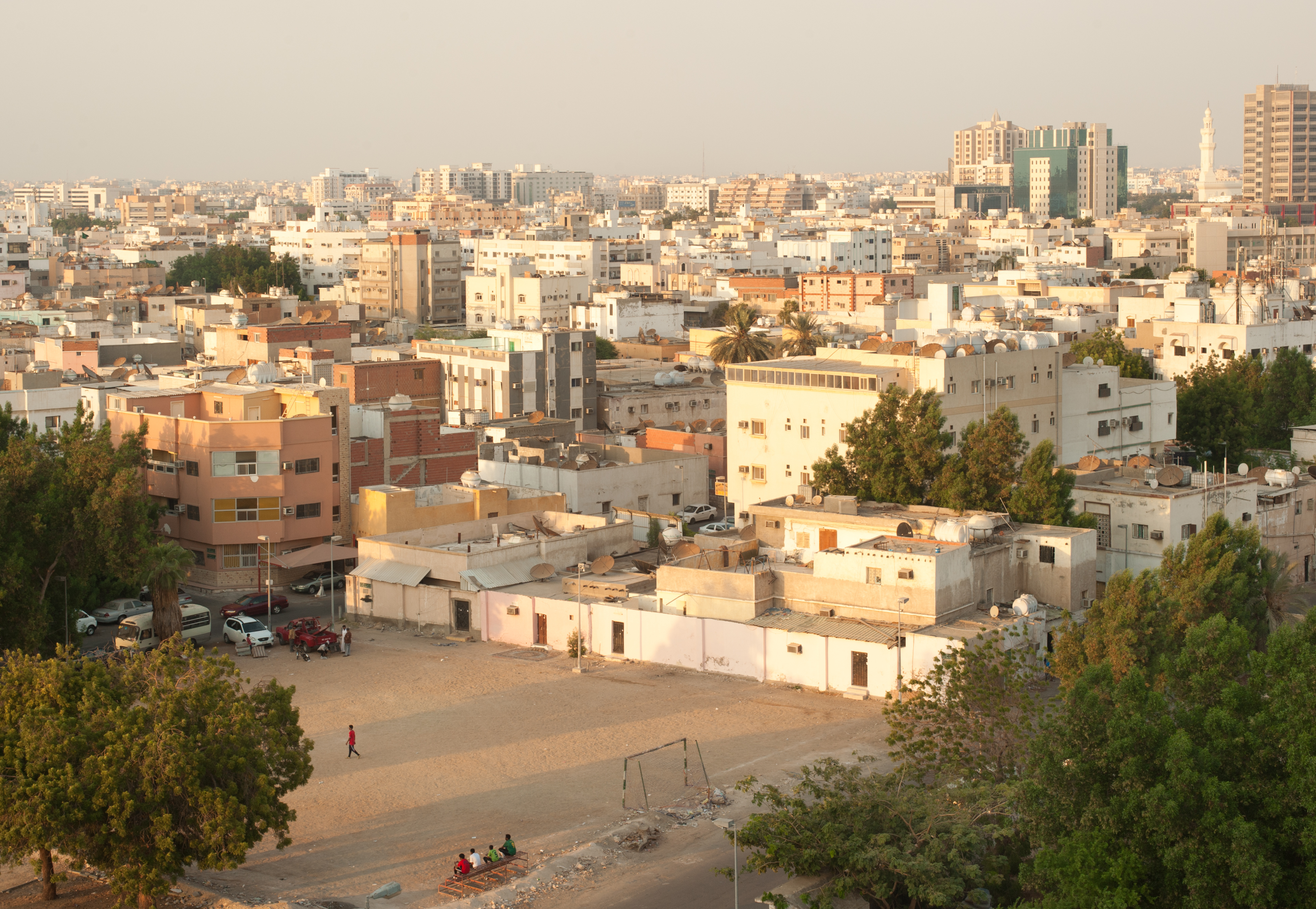 Downtown Jeddah, Saudi Arabia.