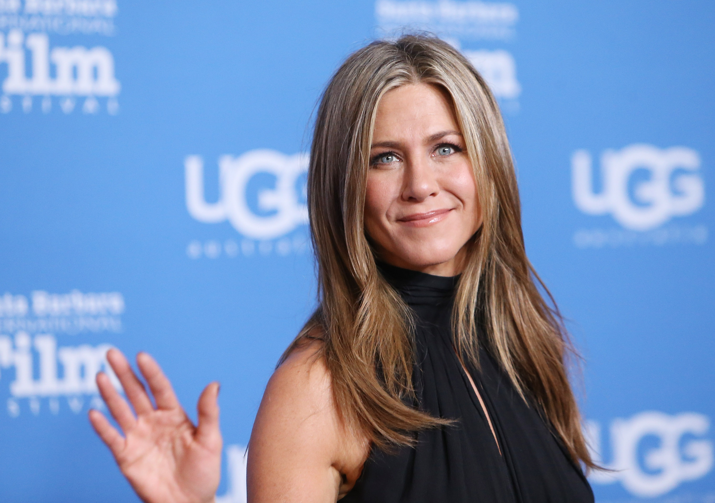 Jennifer Aniston arrives at Santa Barbara Film Festival.