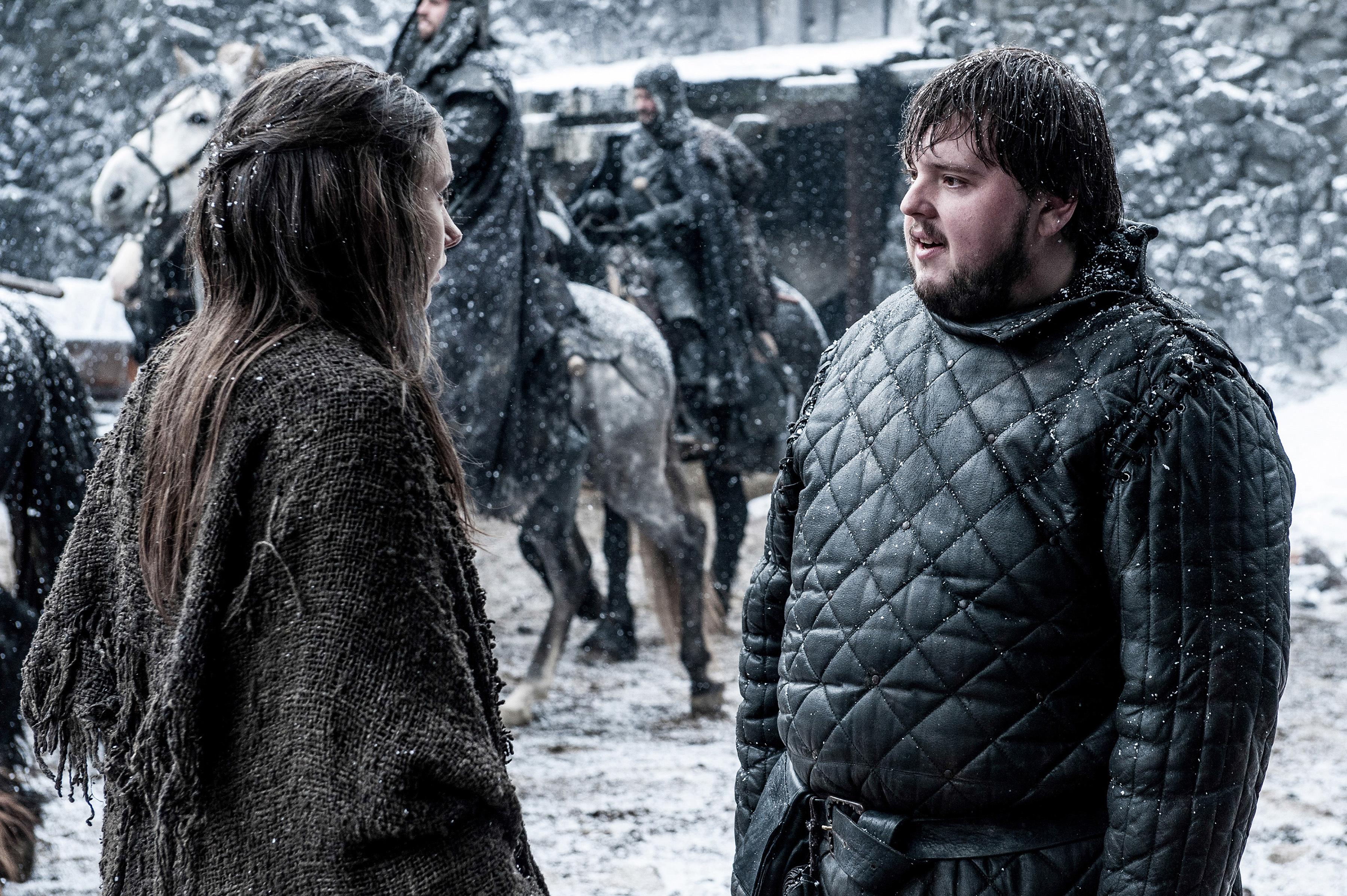Hannah Murray and John Bradley in Game of Thrones