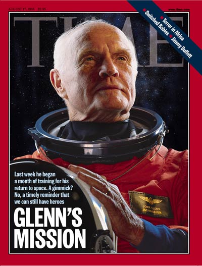 Return to Space John Glenn on the cover of TIME, Aug. 17, 1998.