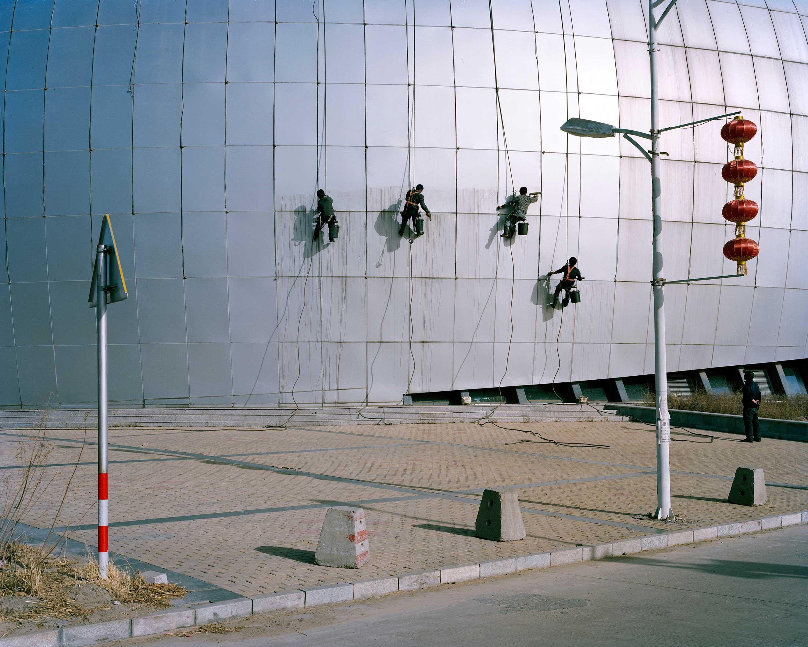 Wuhaï, Inner Mongolia, April 2013. University Gymnasium.