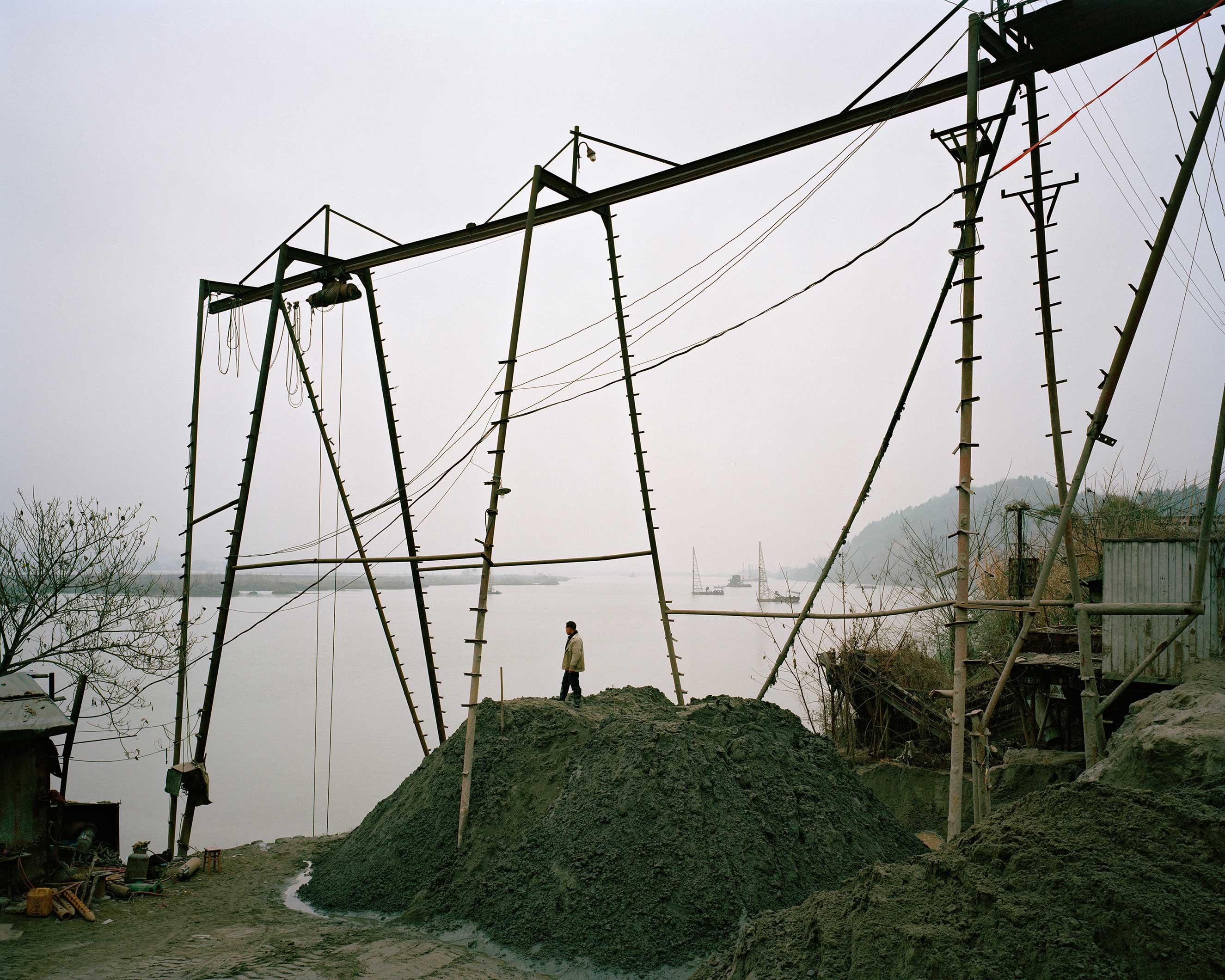 Suining, China, January 2015. Fujian river.