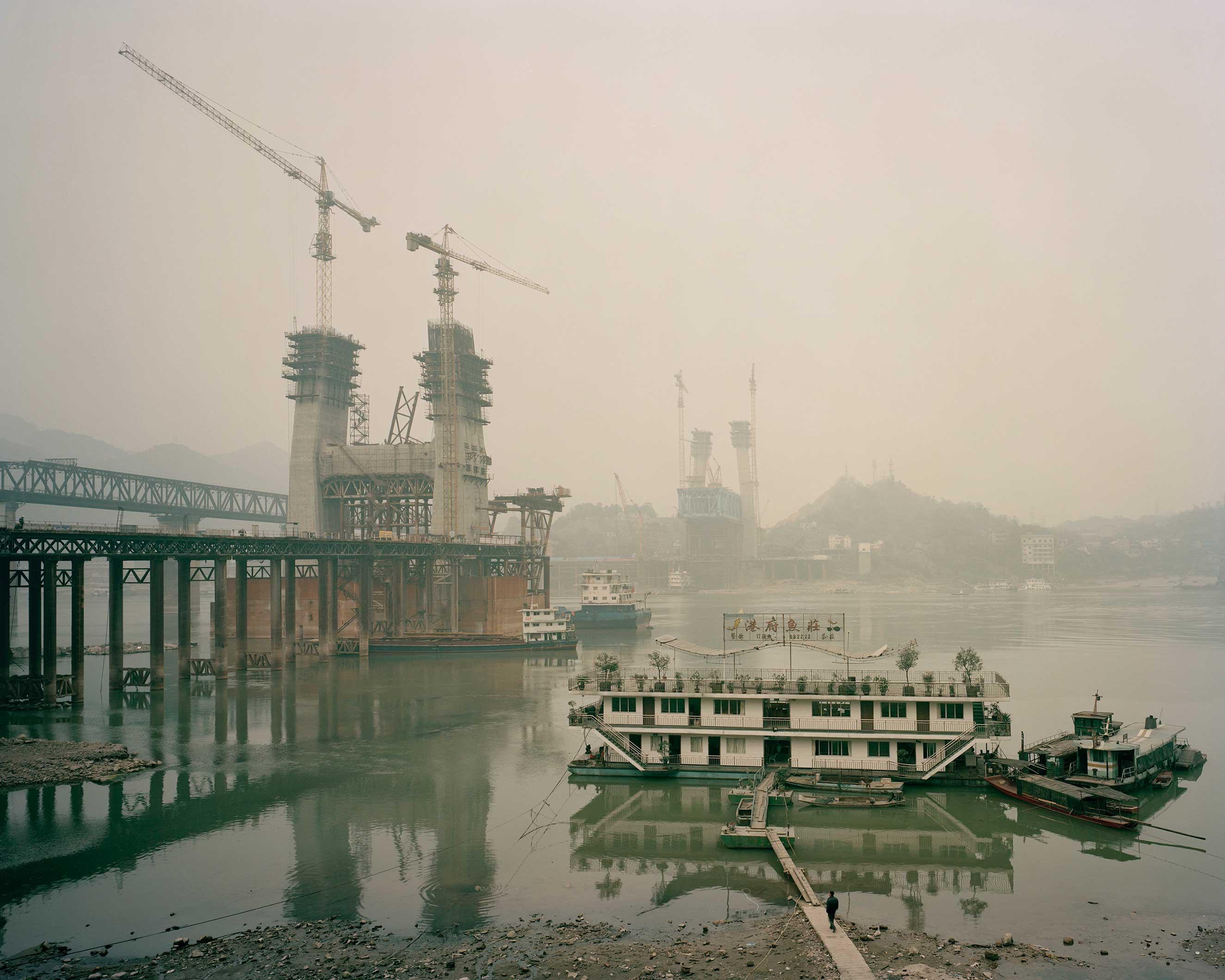 Luohuangzhen, Jiangjin, Chongqing, China, January 2015. Yangtze river.