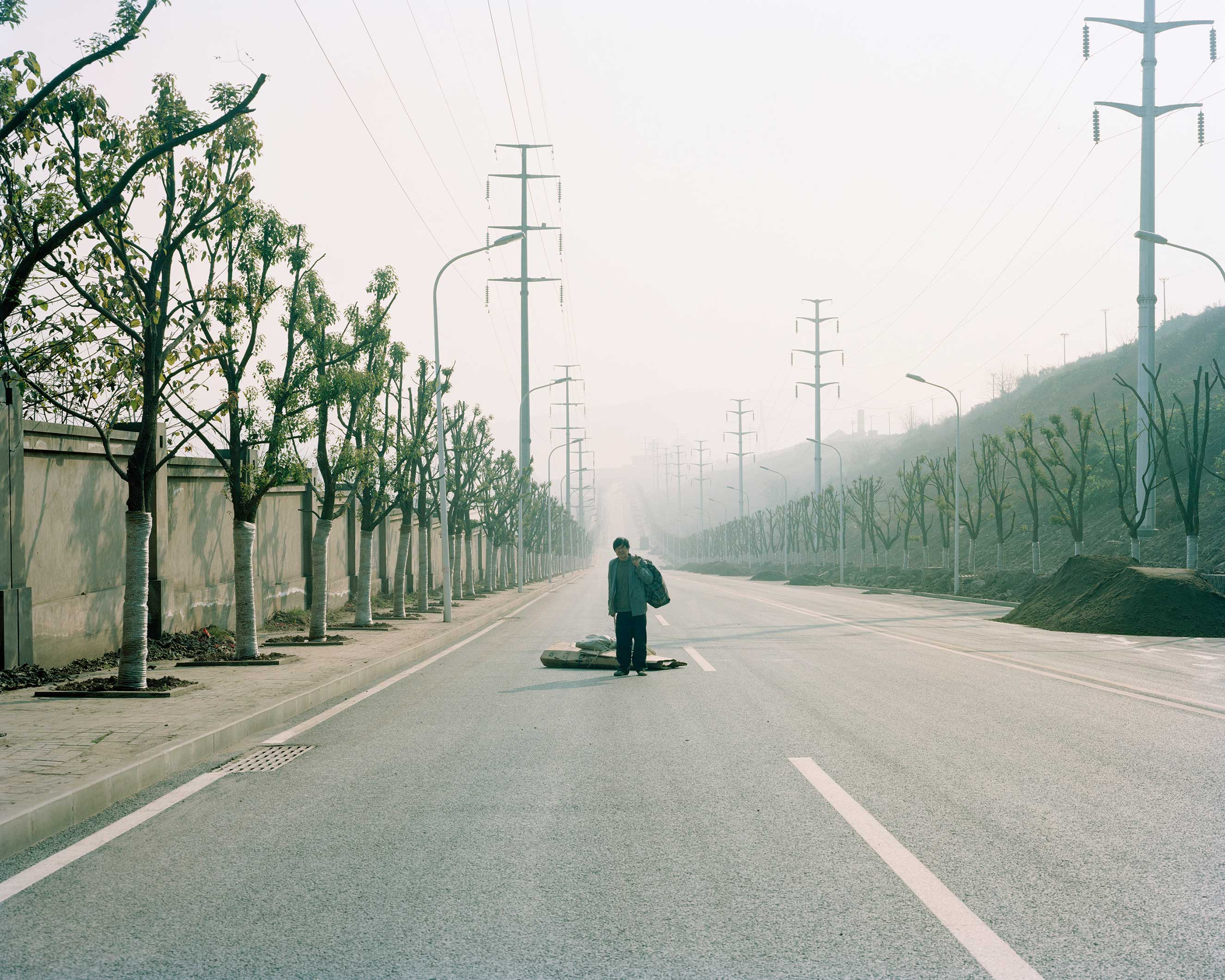 Wan Zhou, China, January 2015. Industrial area.