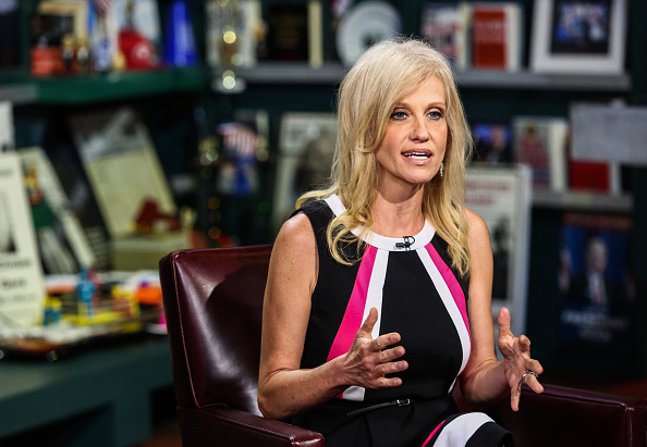 Kellyanne Conway, president and chief executive officer of Polling Co. Inc./Woman Trend, speaks during an interview on  With All Due Respect  in New York, U.S., on Tuesday, July 5, 2016.