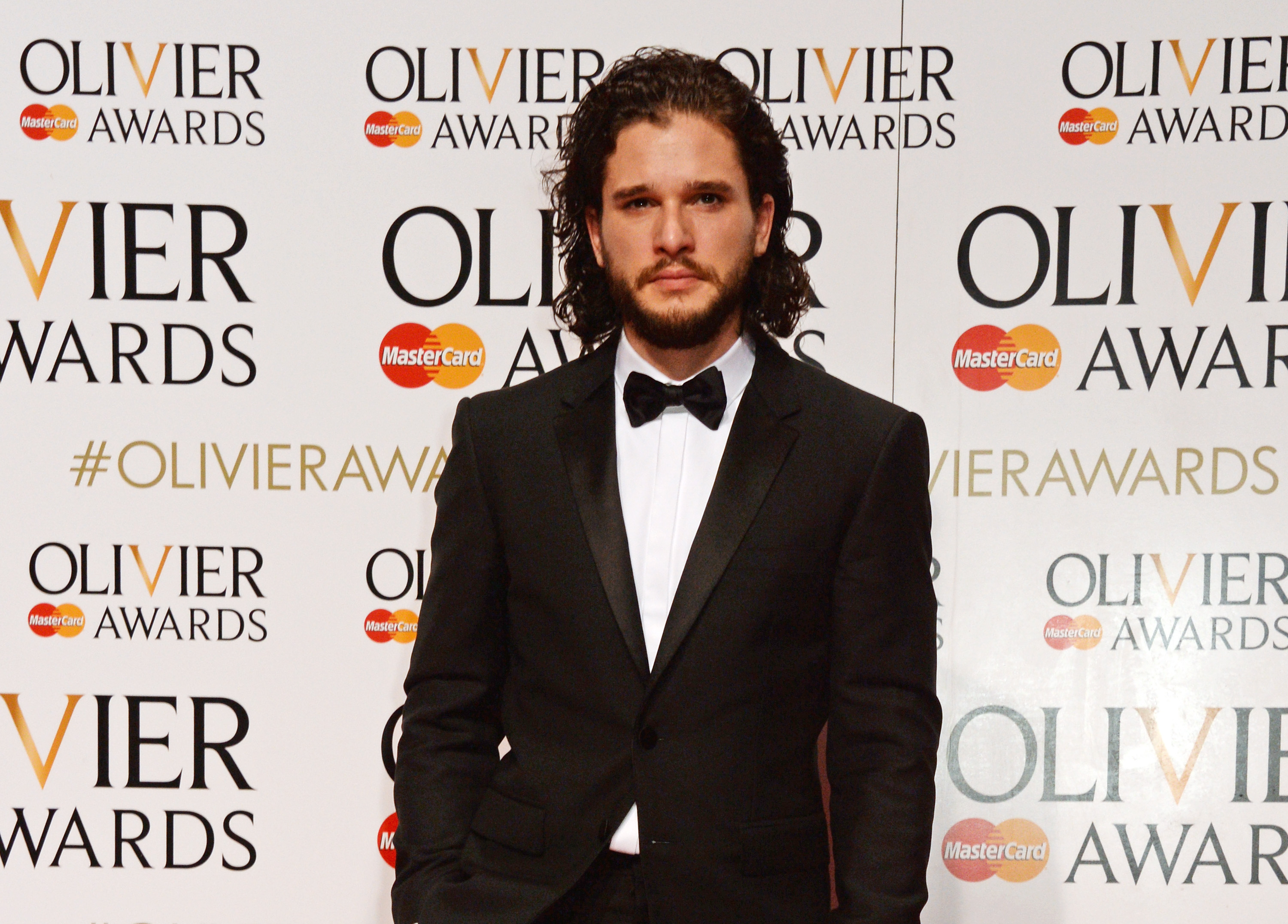 LONDON, ENGLAND - APRIL 03:  Kit Harington poses in the Winners Room at The Olivier Awards with Mastercard at The Royal Opera House on April 3, 2016 in London, England.  (Photo by David M. Benett/Dave Benett/Getty Images)