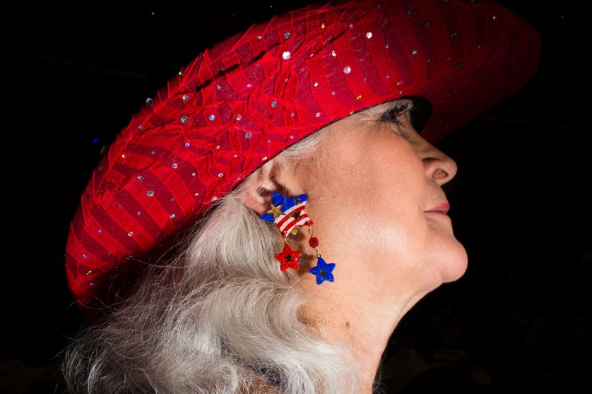 Photographer Landon Nordeman captures scenes from the floor of the 2016 Republican National Convention in Cleveland, while on assignment for TIME. Here, statement earrings are worn on the floor of the 2016 Republican National Convention on Wednesday, July 20, 2016, in Cleveland.