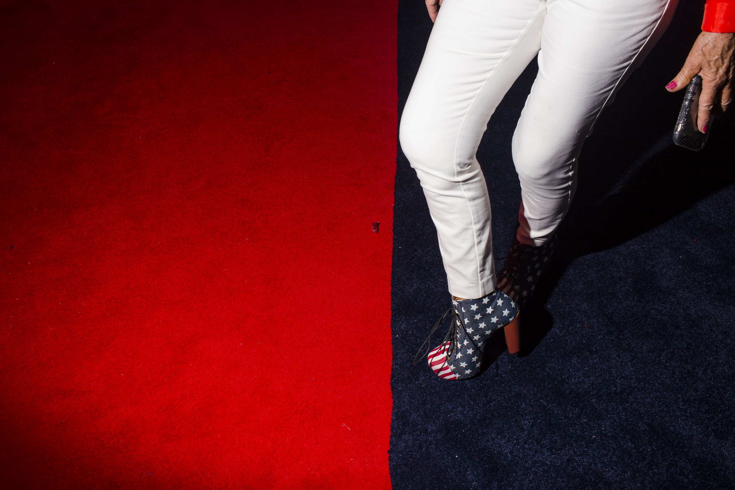 Flag prints made their way from head to toe at the 2016 Republican National Convention on Monday, July 18, 2016, in Cleveland.