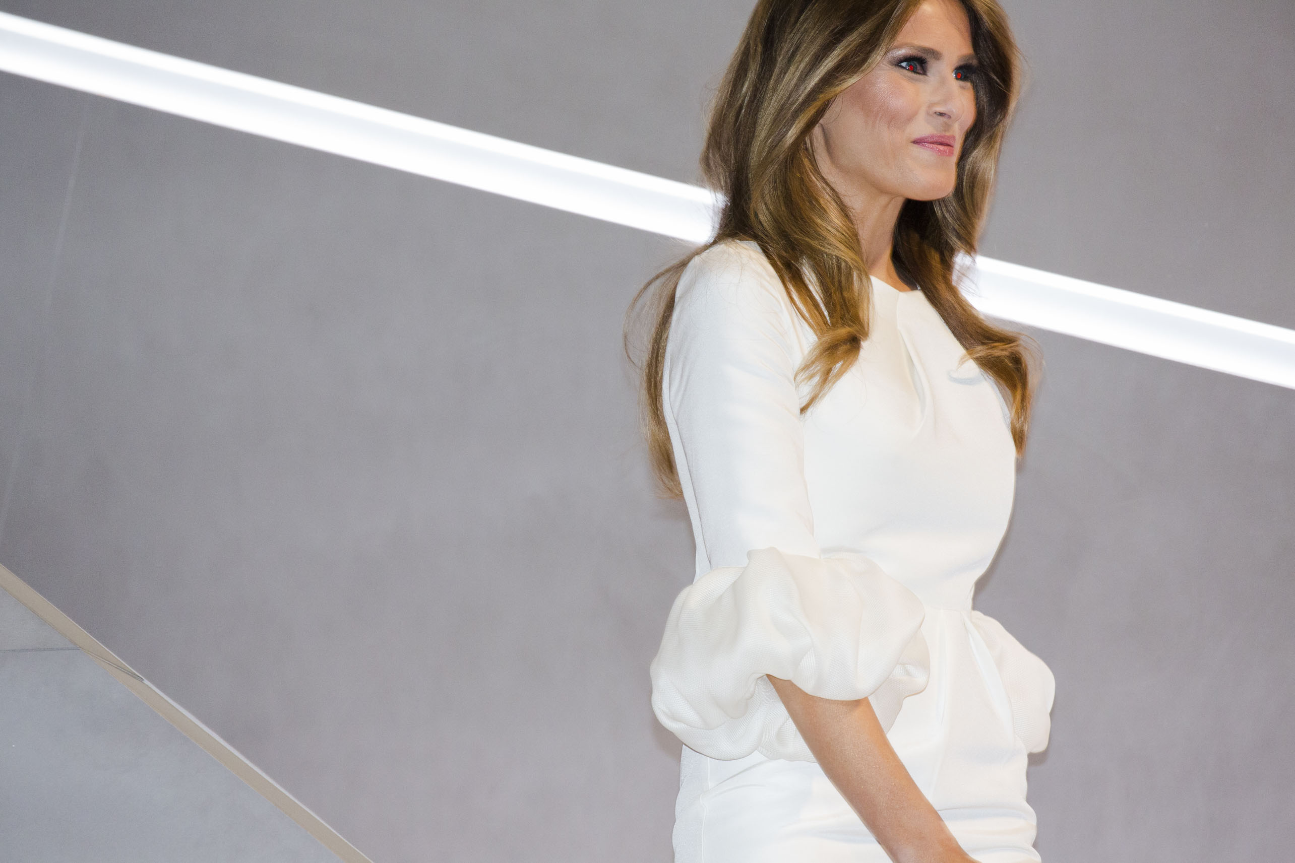 Melania Trump at the 2016 Republican National Convention on Monday, July 18, 2016, in Cleveland.