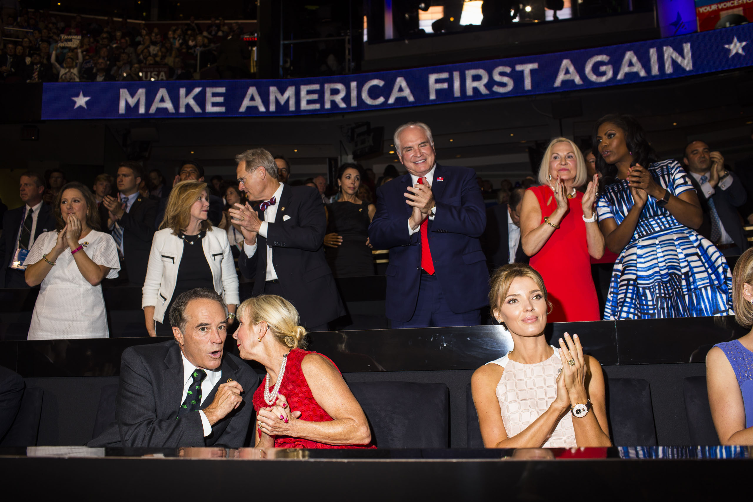 Scenes from the floor at the 2016 Republican National Convention in Cleveland on Wednesday, July 20, 2016.
