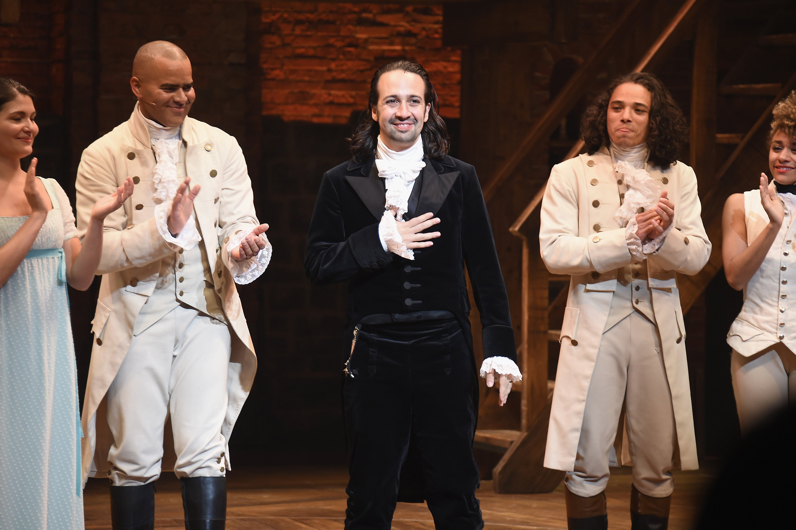 Lin-Manuel Miranda's final performance of  Hamilton  on Broadway at Richard Rodgers Theatre in New York City on July 9, 2016.
