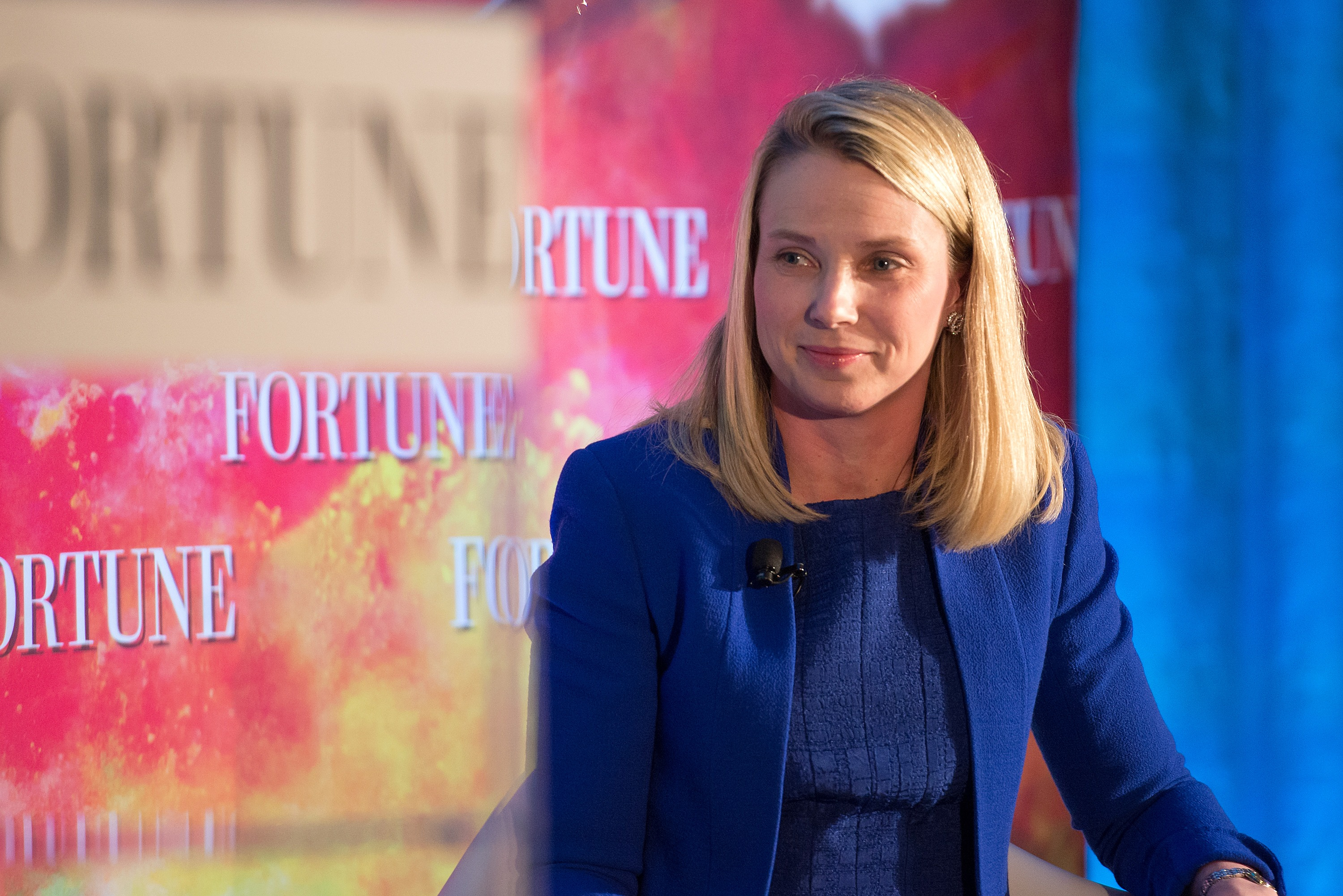 NEW YORK, NY - MAY 18:  President and CEO of Yahoo Marissa Mayer attends Fortune Magazines 2015 Most Powerful Women Evening With NYC at Time Warner Center on May 18, 2015 in New York City.  (Photo by Mike Pont/Getty Images)