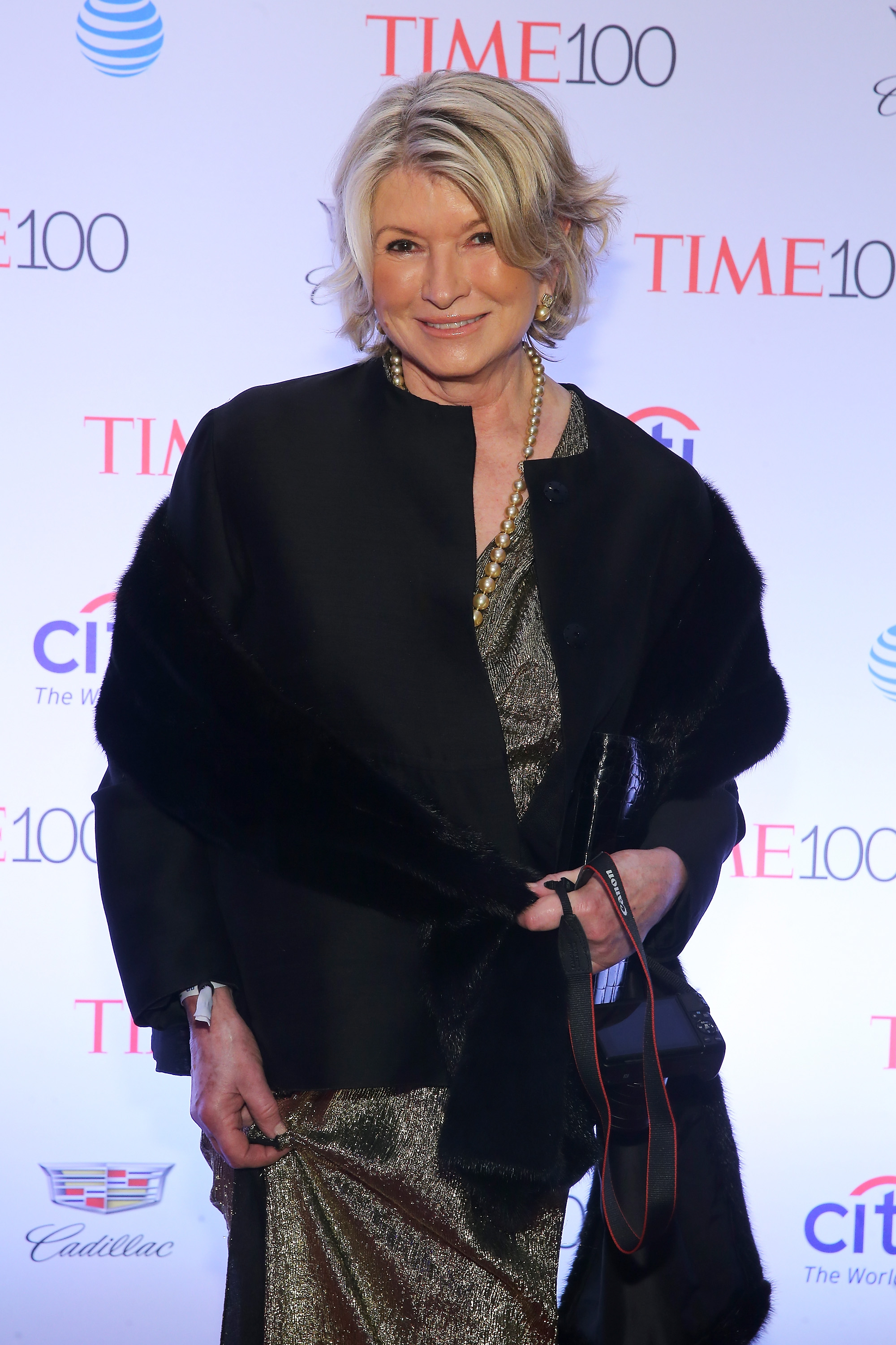 NEW YORK, NY - APRIL 26:  Martha Stewart attends 2016 Time 100 Gala, Time's Most Influential People In The World - Cocktails at Jazz At Lincoln Center at the Times Warner Center on April 26, 2016 in New York City.  (Photo by Jemal Countess/Getty Images for Time)