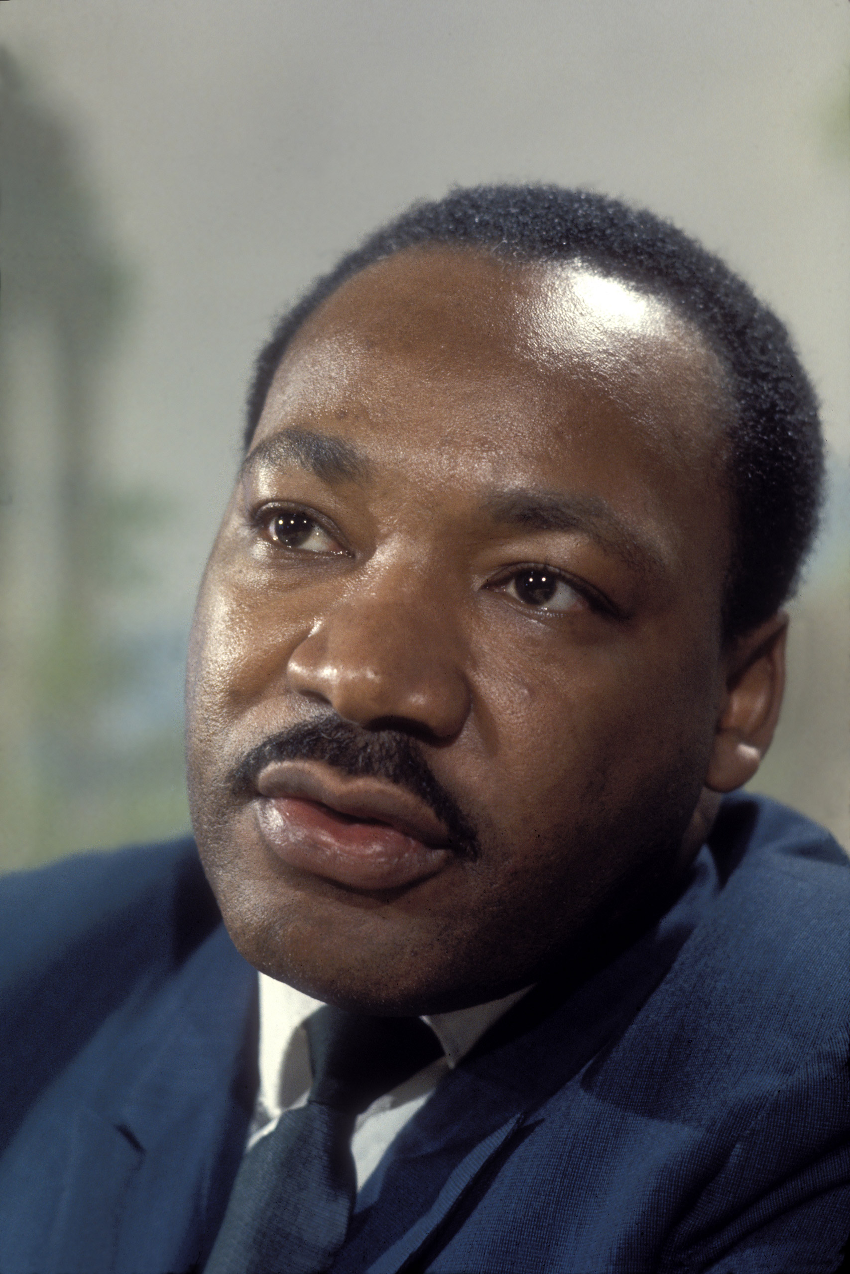 Portrait of Martin Luther King.