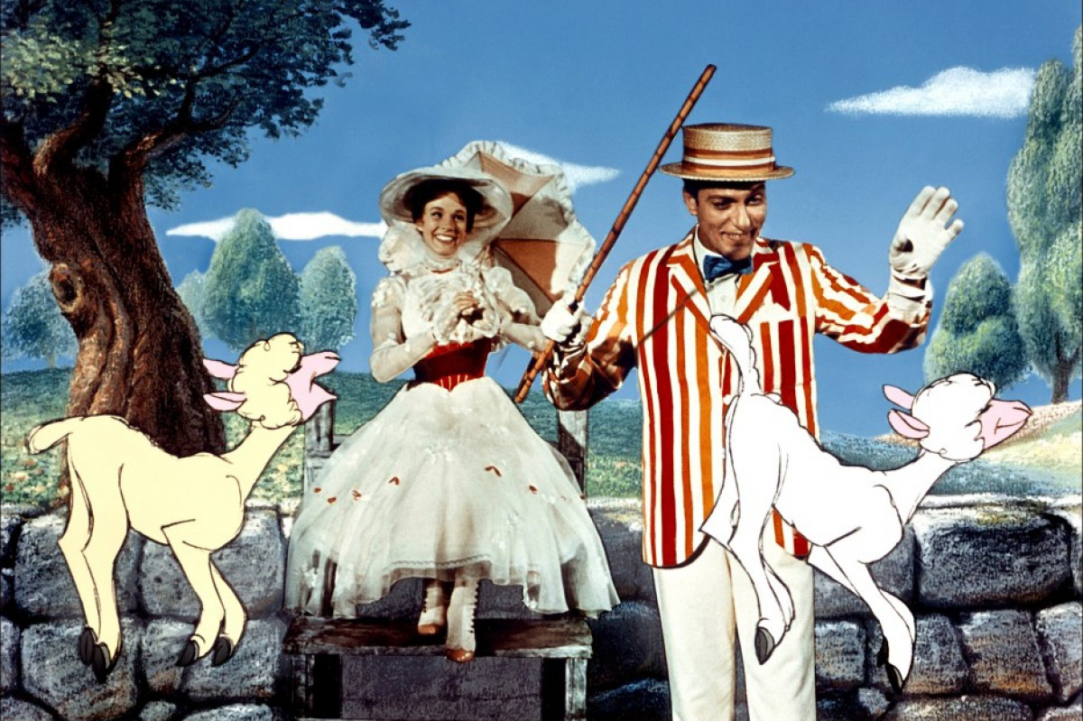 Movie: Mary Poppins, 1964; Play: Mary Poppins, 2004.