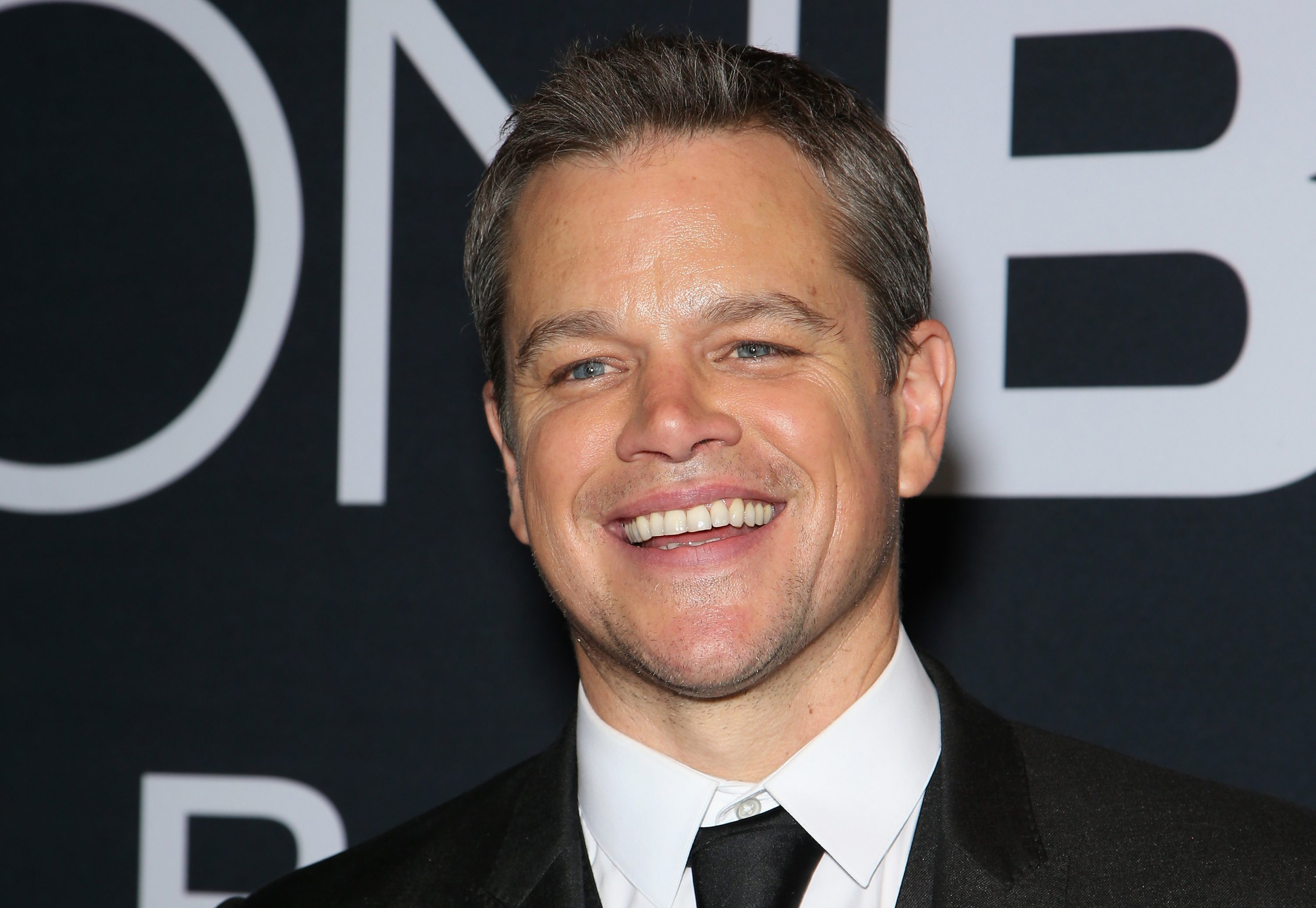 LAS VEGAS, NV - JULY 18:  Actor Matt Damon attends the premiere of Universal Pictures'  Jason Bourne  at The Colosseum at Caesars Palace on July 18, 2016 in Las Vegas, Nevada.  (Photo by Gabe Ginsberg/FilmMagic)