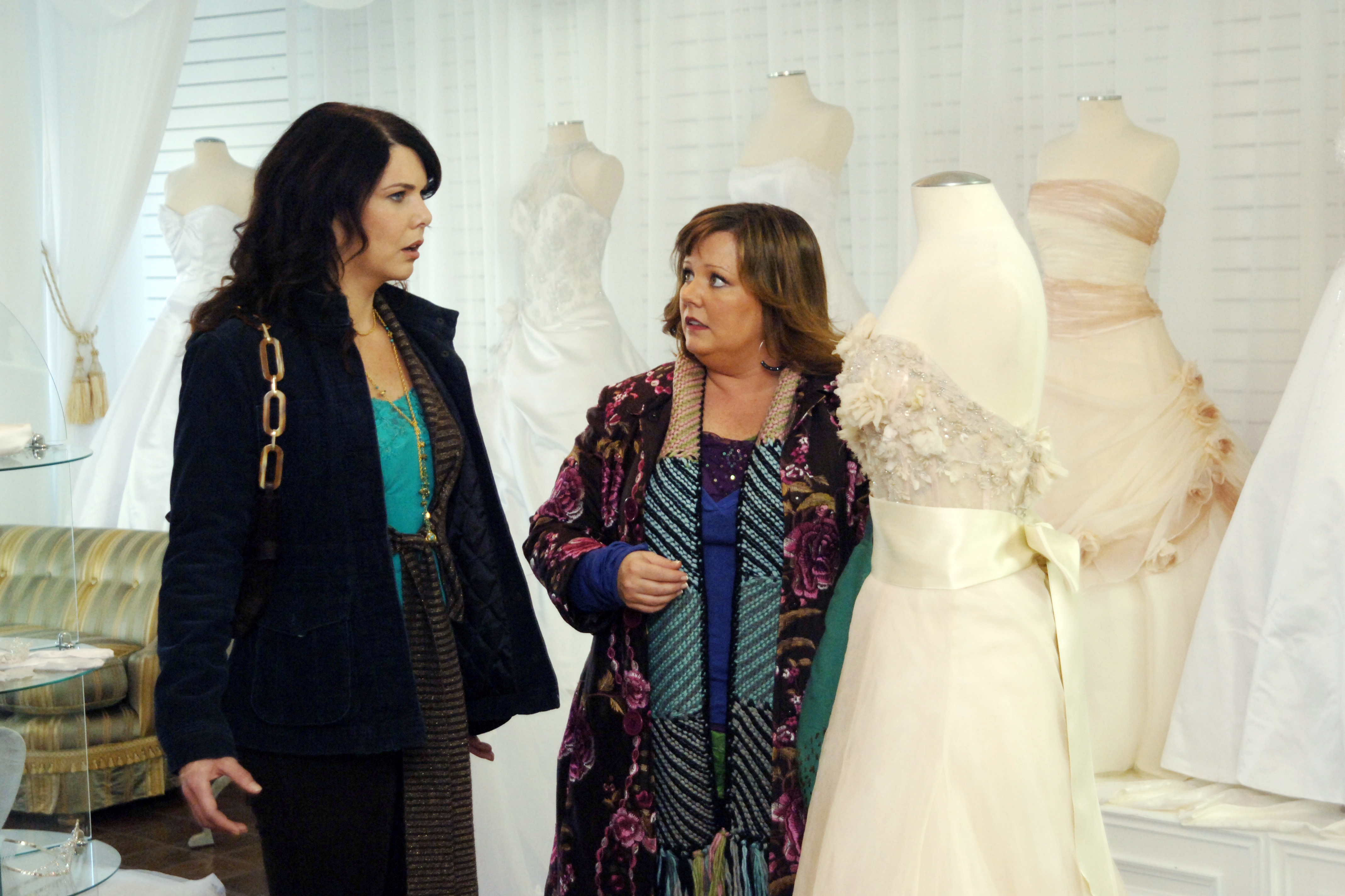 Melissa McCarthy, right, as Sookie St. James in Gilmore GIrls, 2000-2007.
