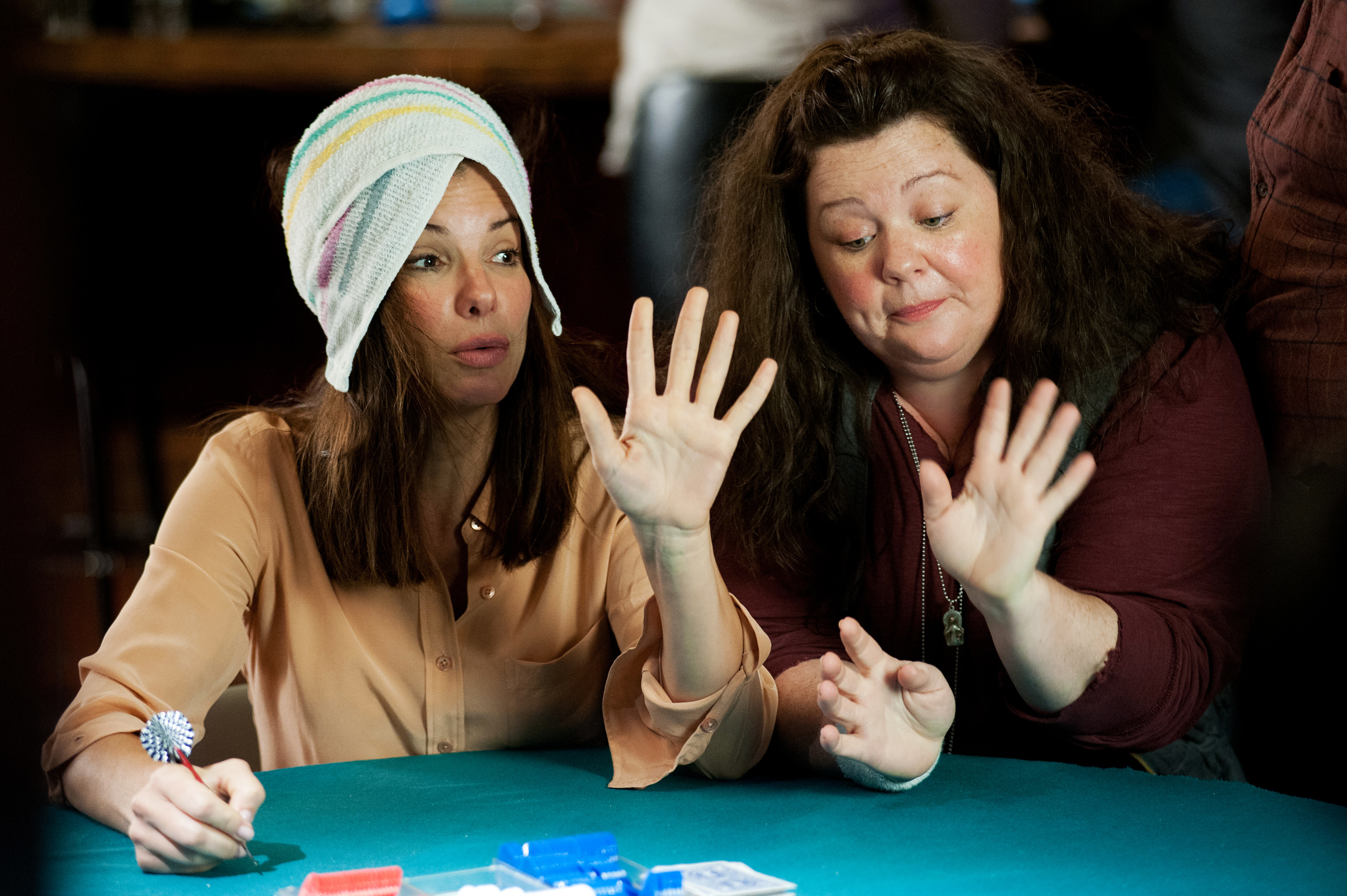 Melissa McCarthy, right, as Detective Shannon Mullins in The Heat, 2013.