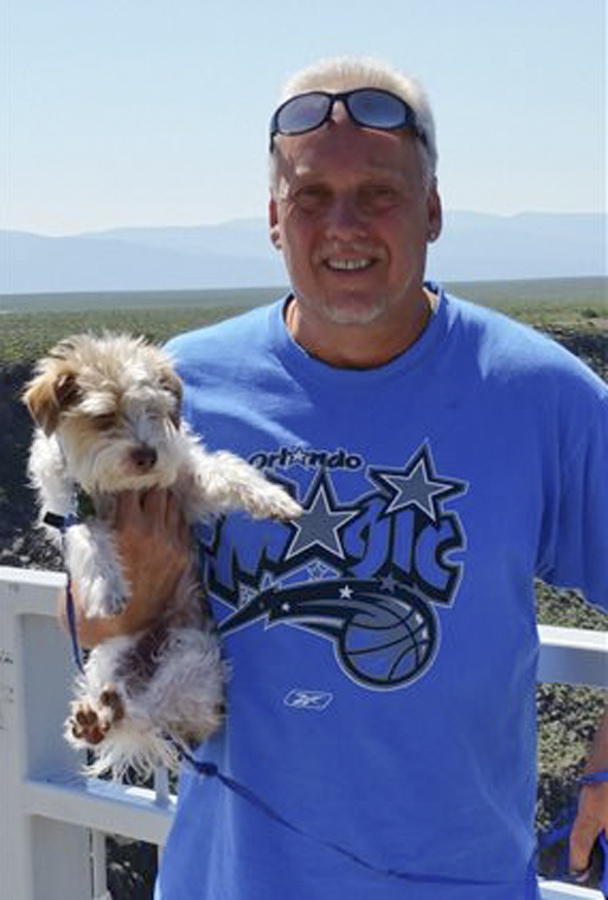 This June 2015 photo shows her ex-husband Randy Bilyeu during a visit to northern New Mexico.