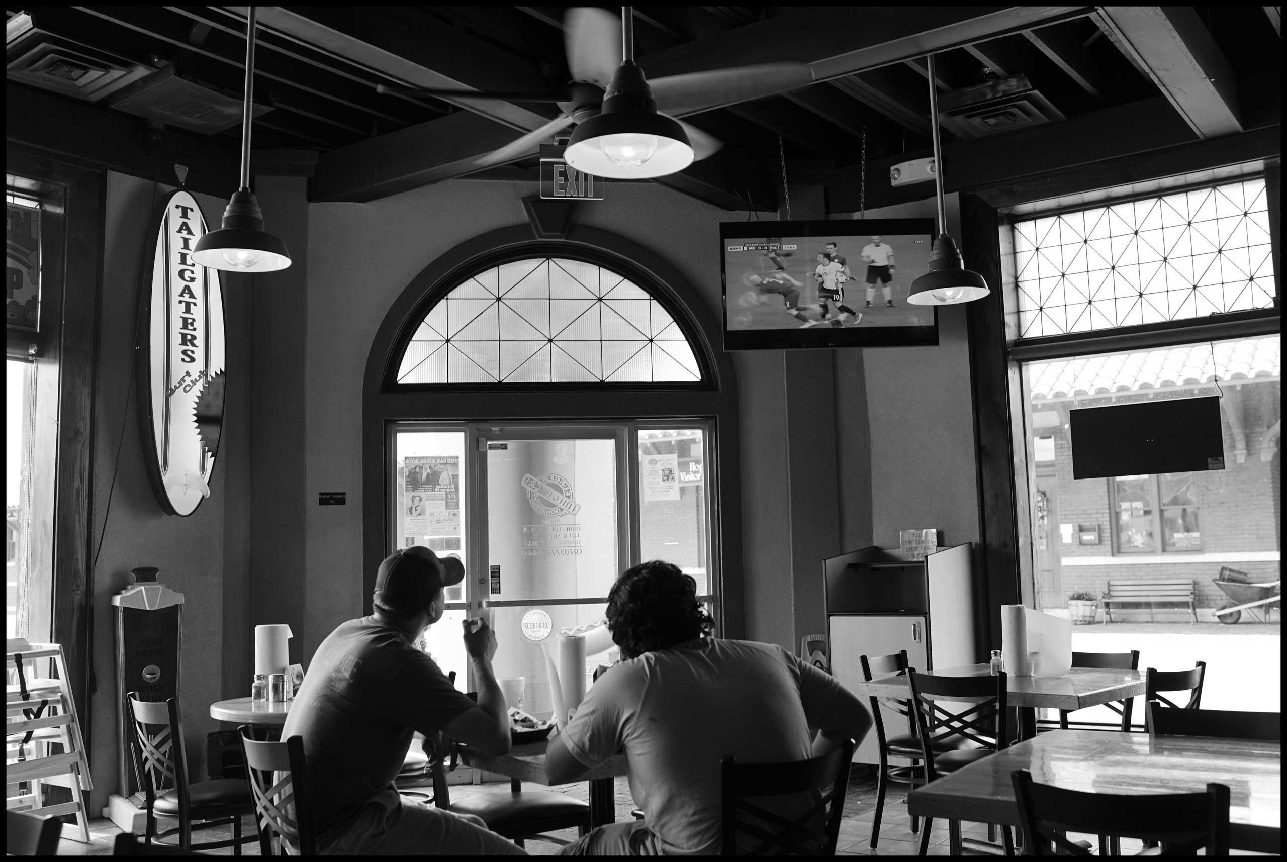 Local restaurant interior. Hope, Ark. 2016.