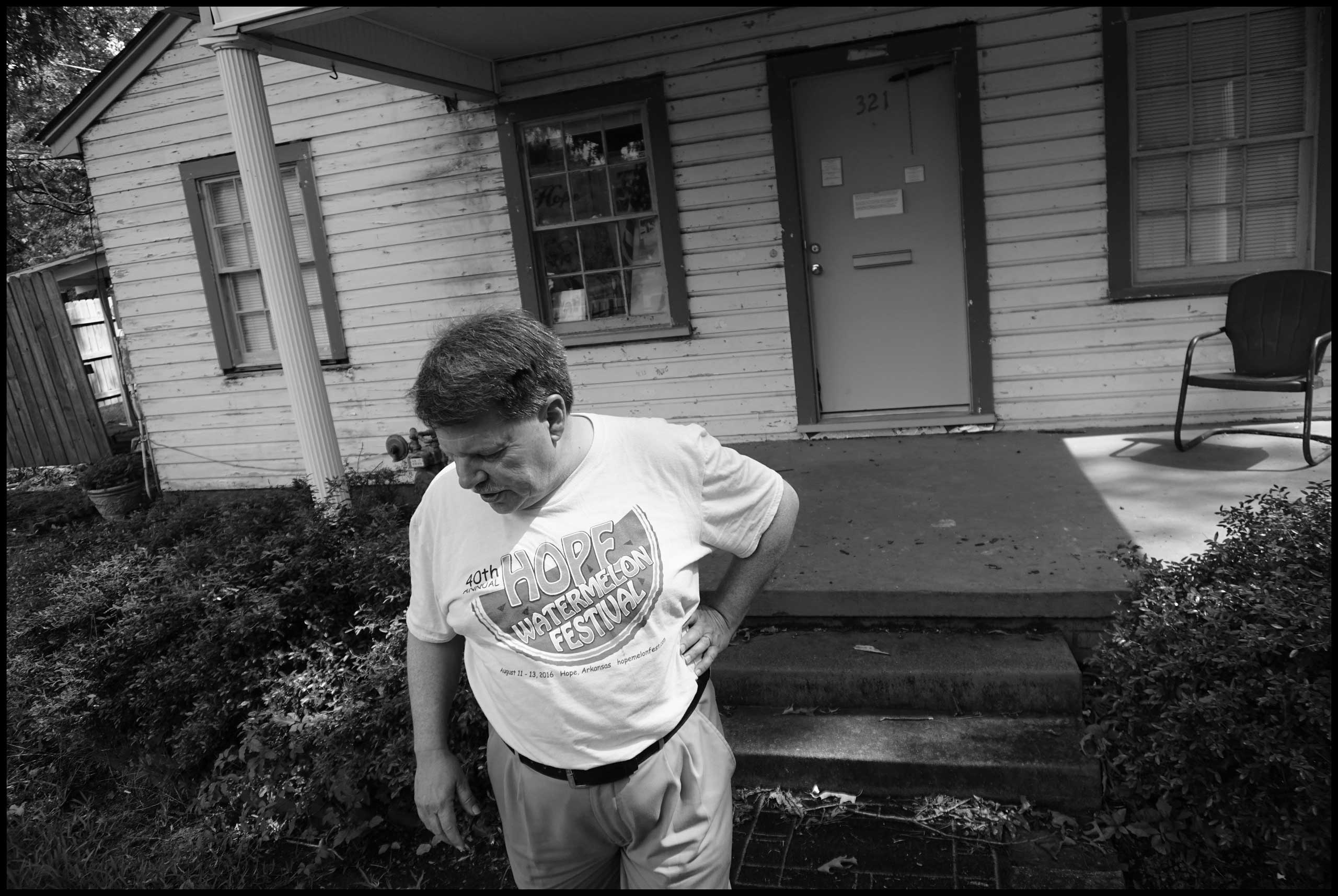 The house that Bill Clinton lived in later in his life, at 321 East 13th Street, Hope, Ark. 2016.