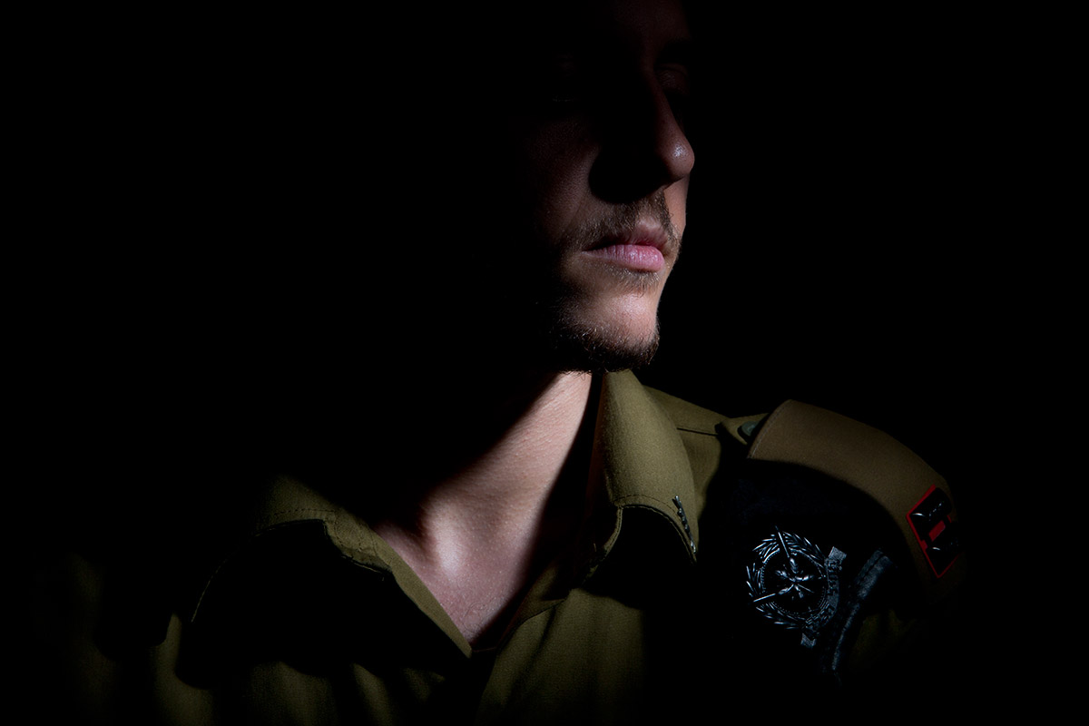 Lt. Shachar, the first transgender person to become an IDF officer, in Tel Aviv, Israel, in July.
