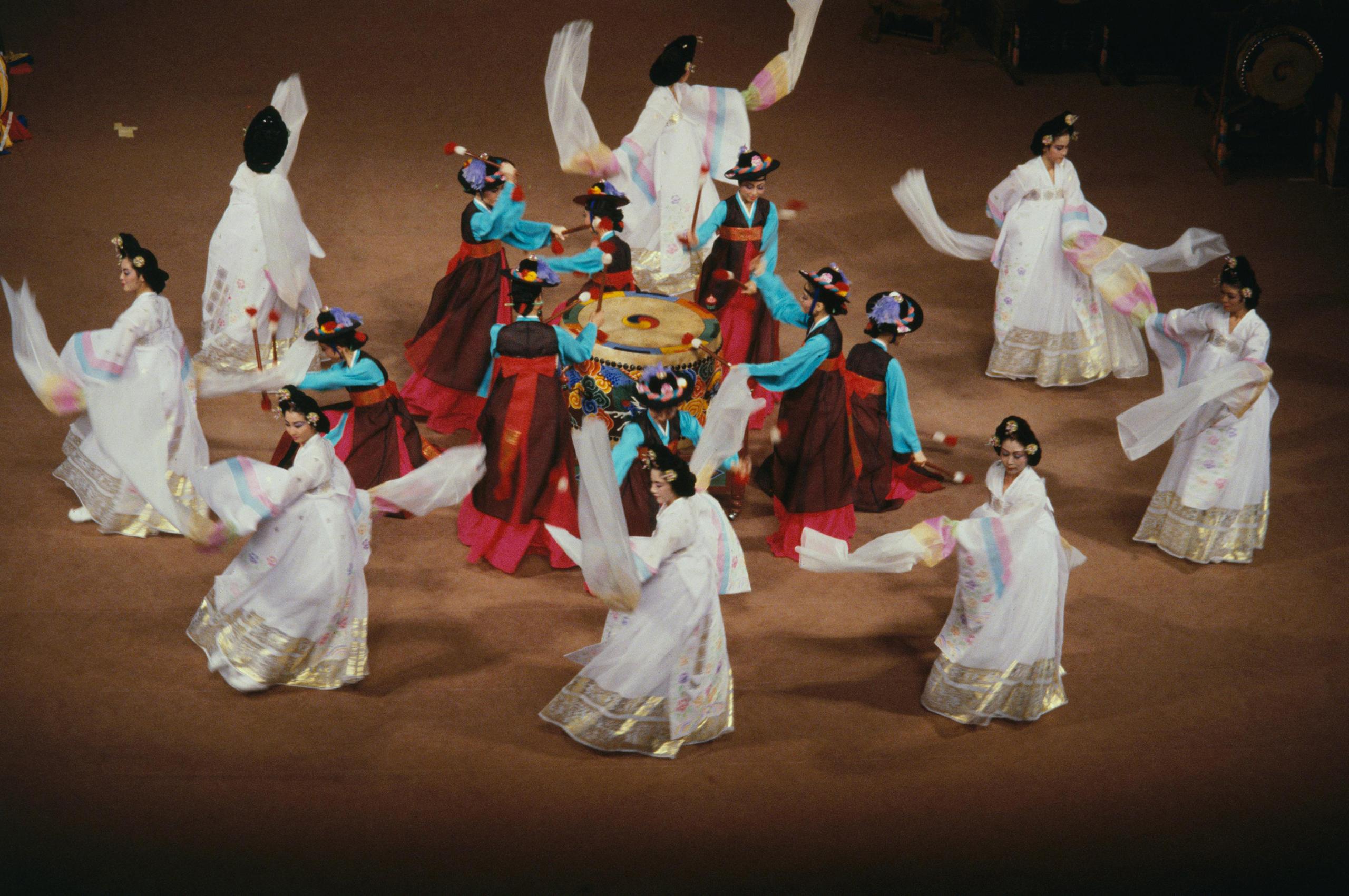 Seoul, 1988Dancers celebrate Korean culture.
