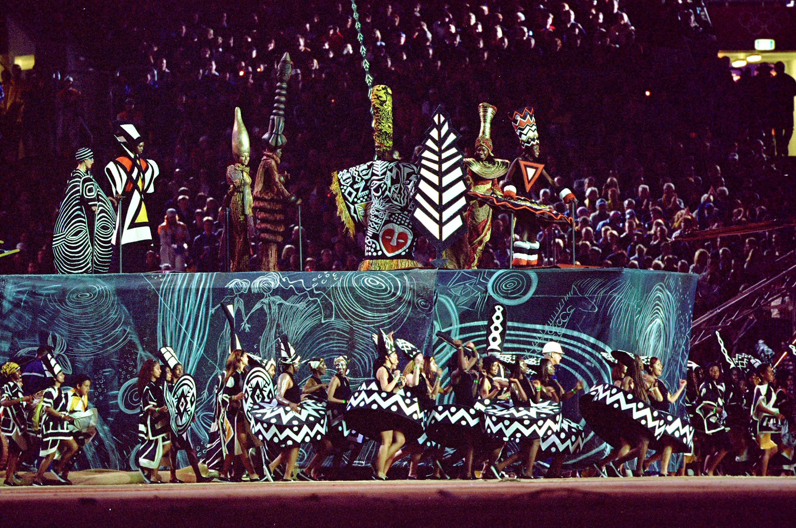 Sydney, 2000A segment entitled  Awakening  celebrates Australia's aboriginal history.