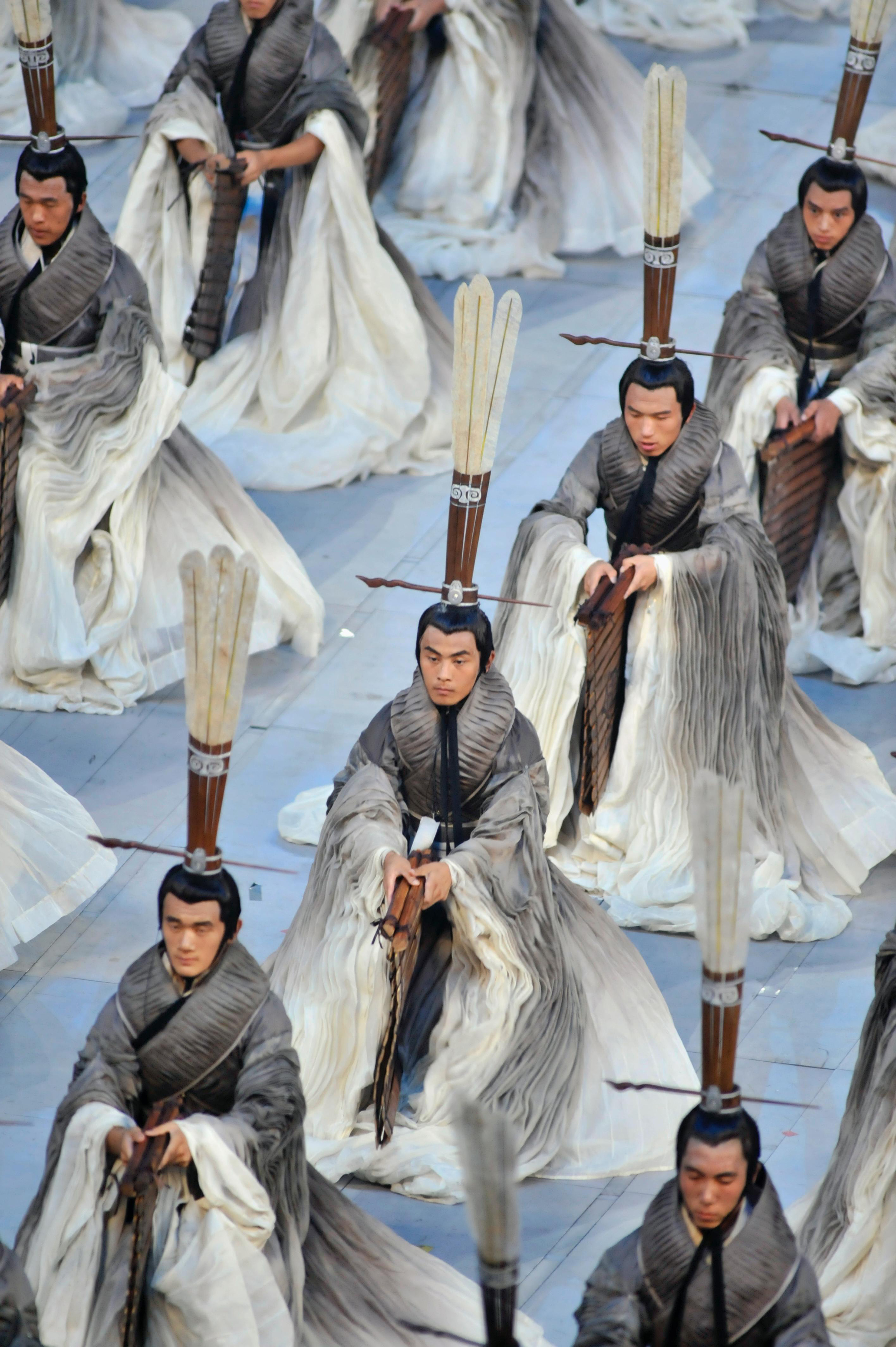 Beijing, 2008Widely regarded to be the most spectacular opening ceremony, Beijing's performance was directed by filmmaker Zhang Yimou and focused on ancient Chinese culture and creativity.
