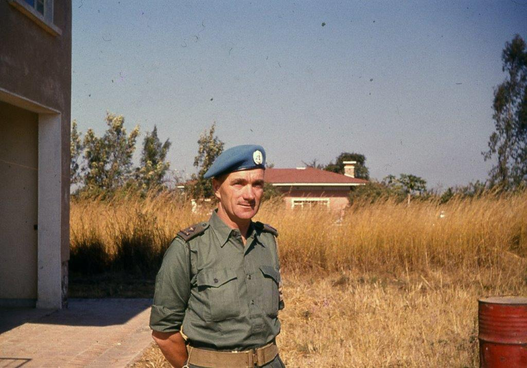 Comdt. Pat Quinlan in Jadotville, just days before the siege began, on Sept. 10, 1961.