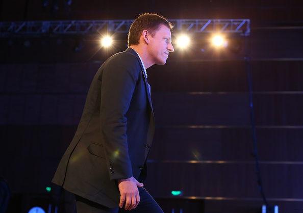 Peter Thiel, co-founder of PayPal Inc., speaks during a forum themed on entrepreneurship and investment at China National Convention Center on February 27, 2015 in Beijing, China.