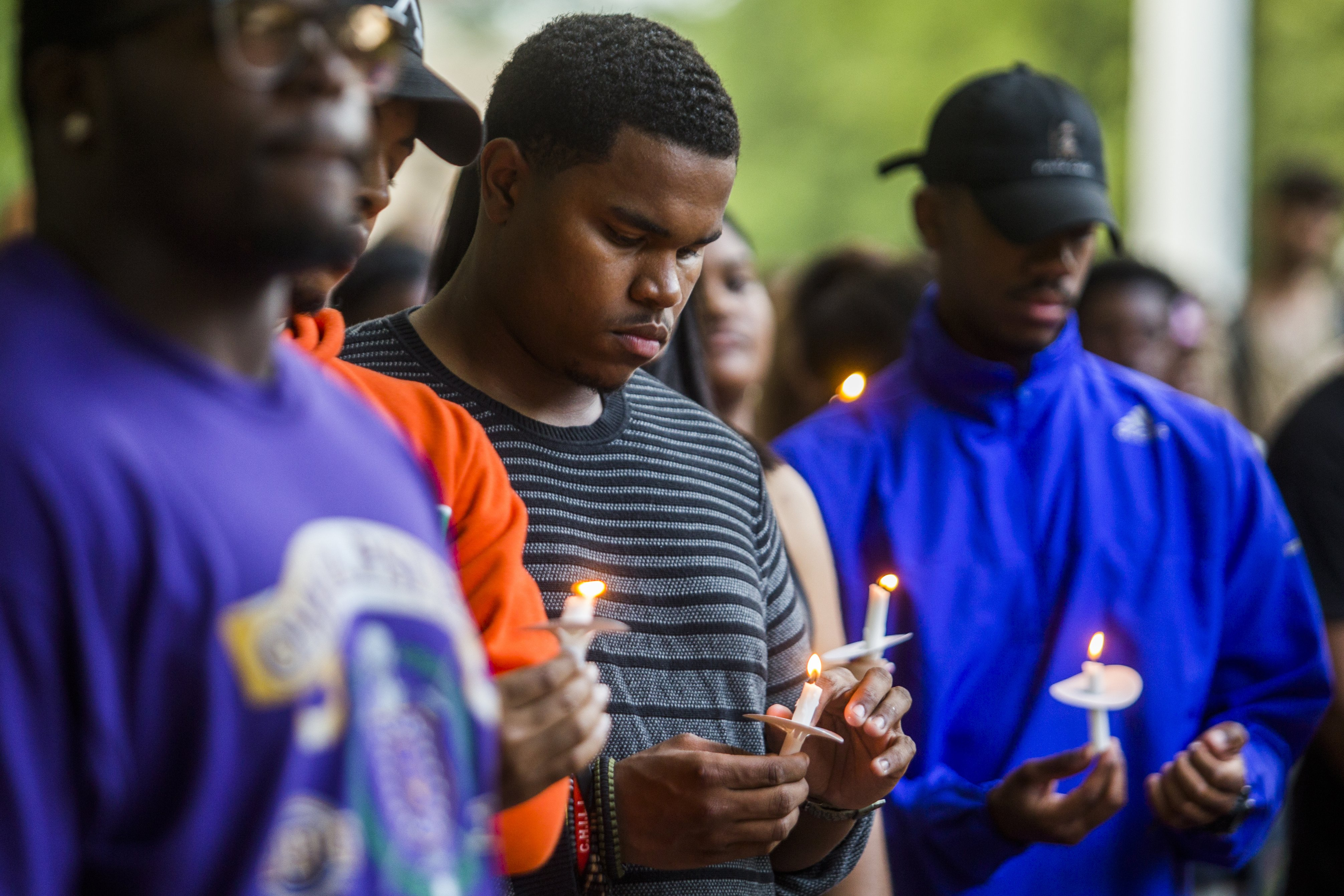 A vigil at the University of Michigan Diag in Ann Arbor, Mich., in honor of Alton Sterling and Philando Castile, on July 7, 2016.