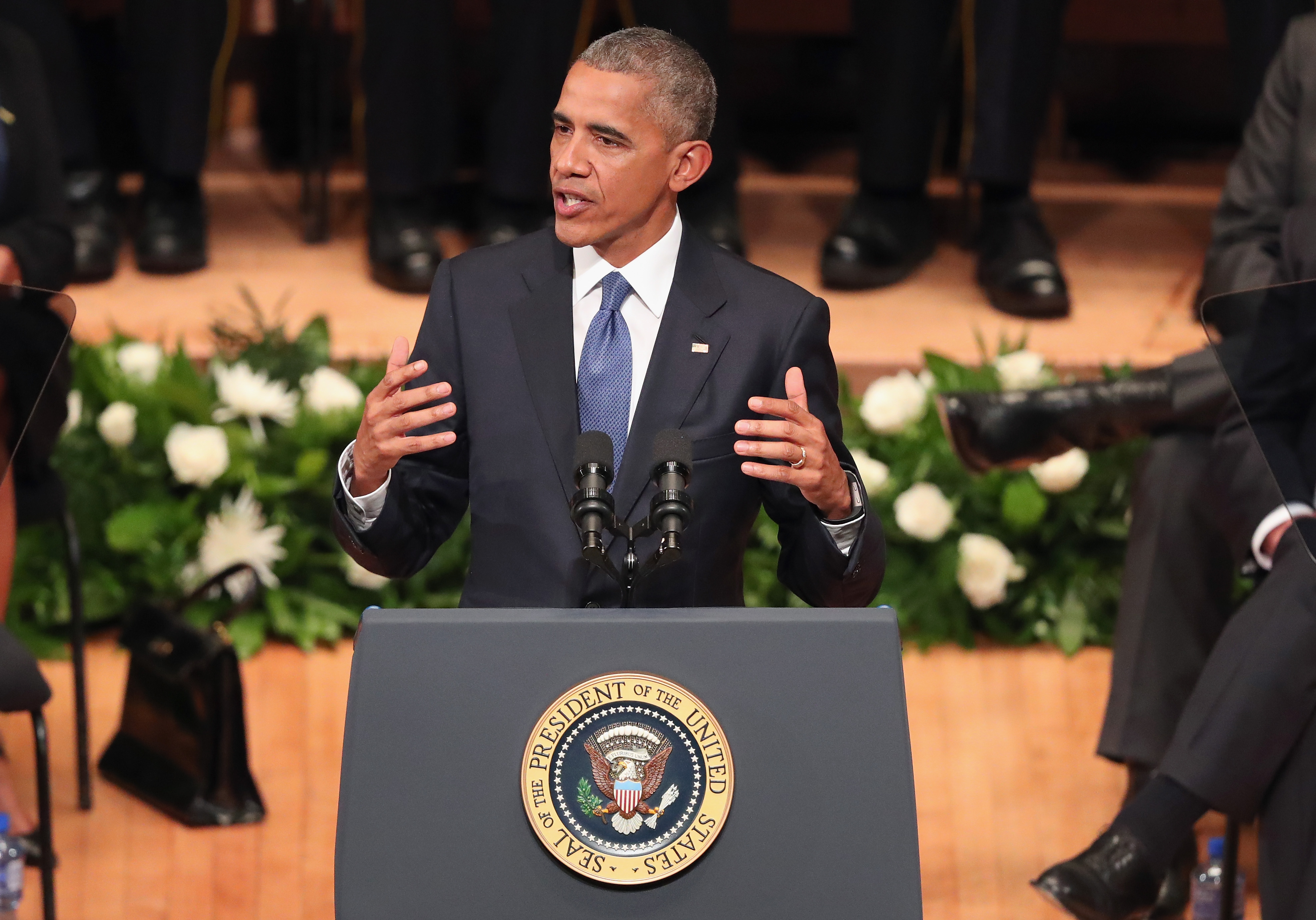 Dallas Shooting President Obama Speaks At Memorial Service Time