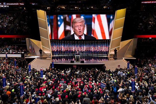 The dominant color on the Republican stage was gold, long favored by nominee Donald Trump, who even gave an interview to  60 Minutes  while sitting on a gold chair.