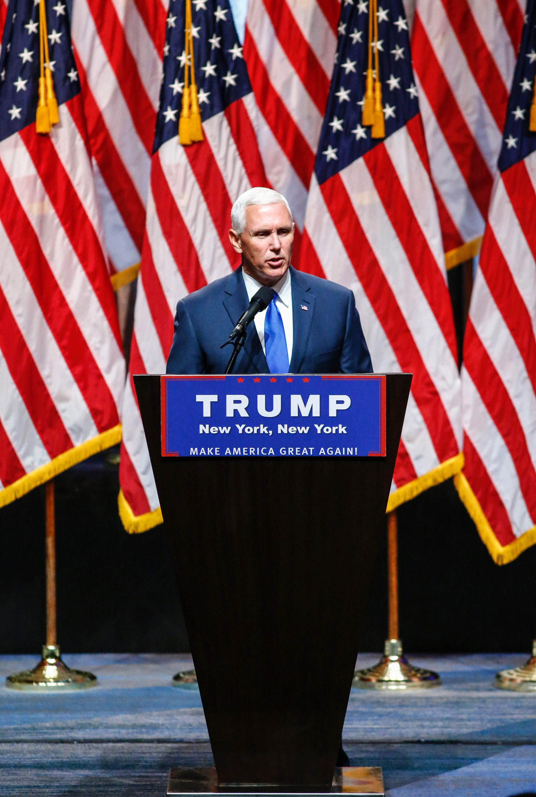 Indiana Governor Mike Pence makes his debut as a member of the Republican ticket on July16