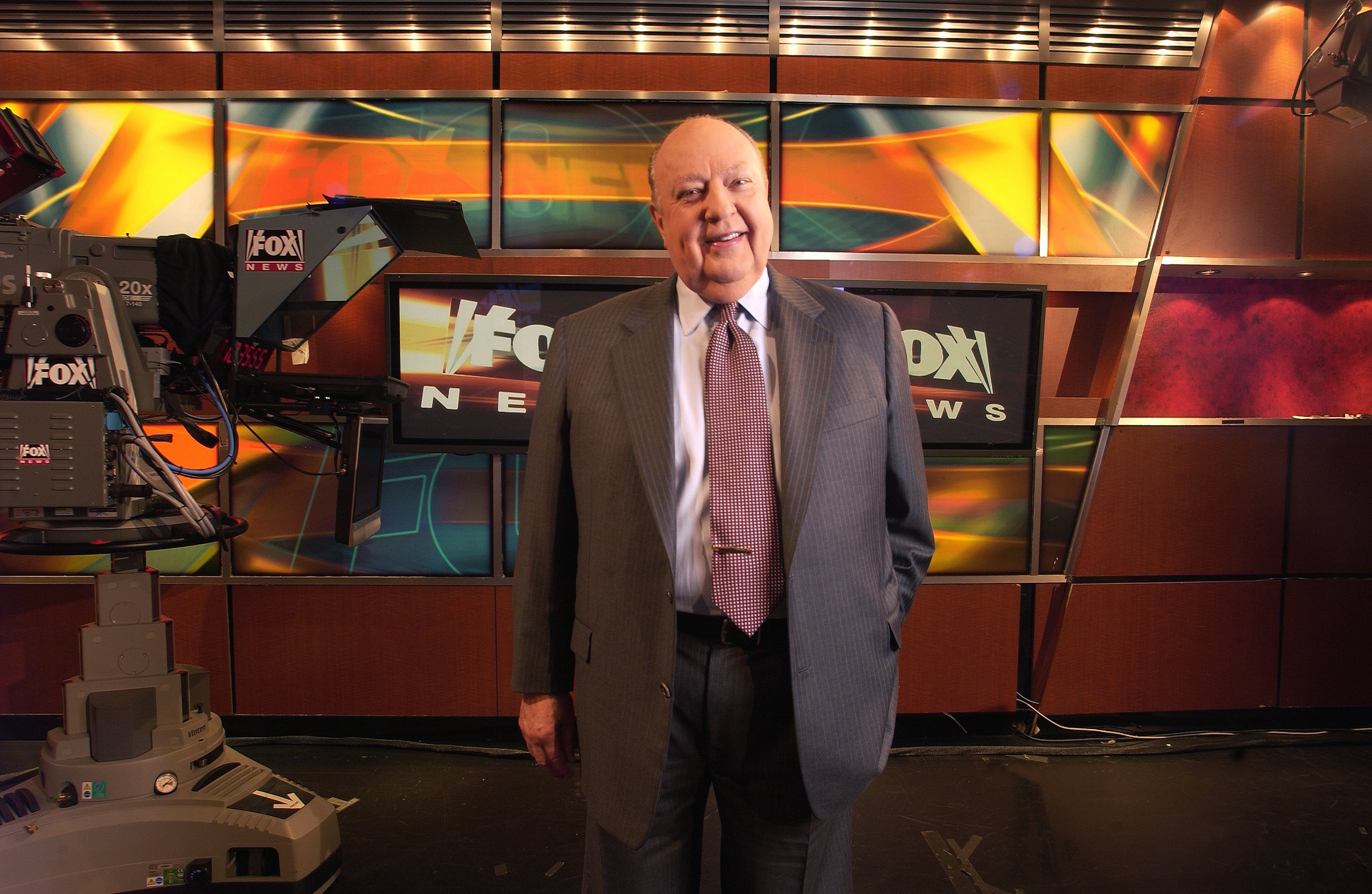 Roger Ailes poses at Fox News in New York, in Sept. 2006.